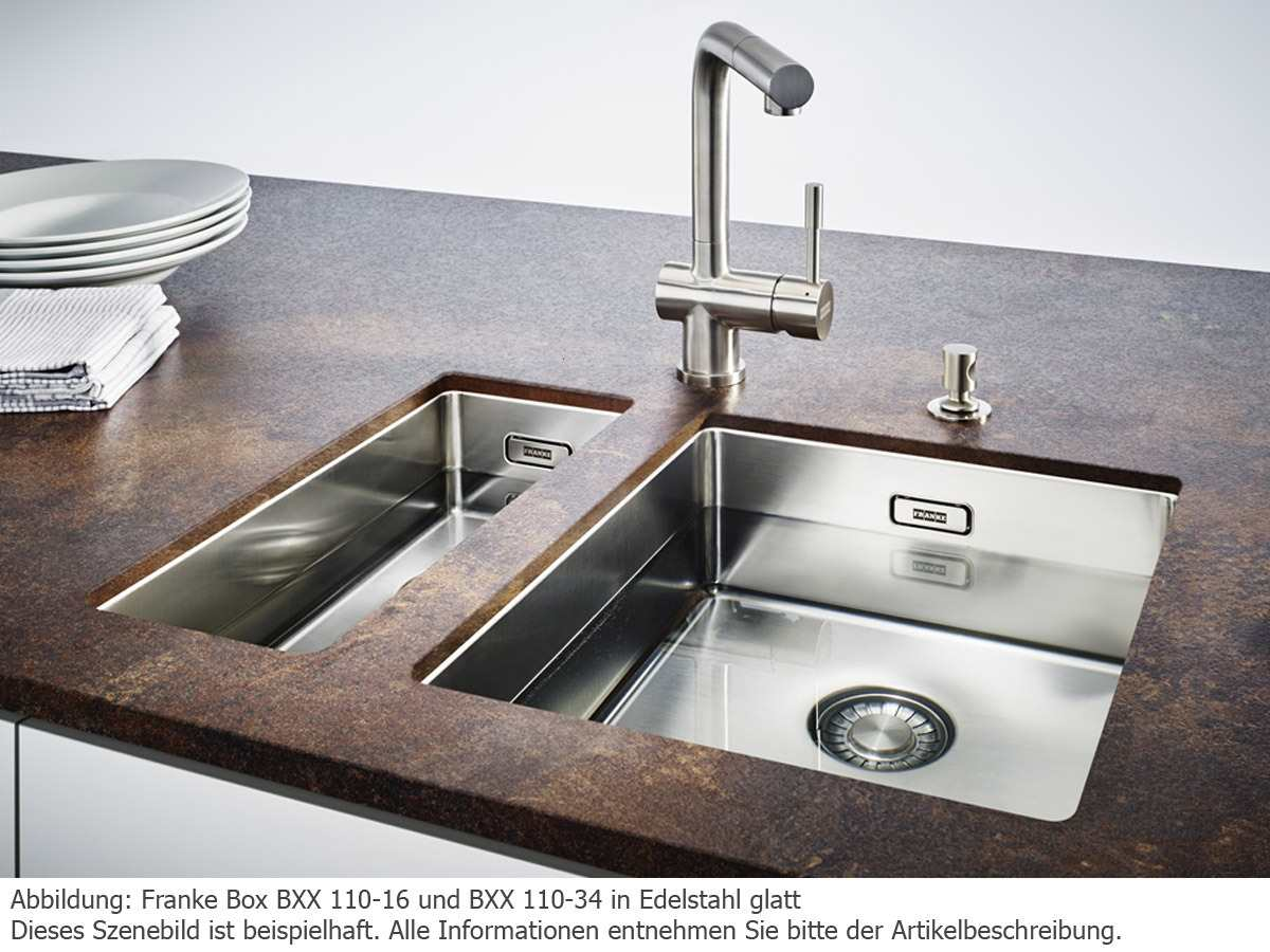 Franke Box BXX 110-34 Edelstahlspüle glatt - 122.0374.689 Unterbau