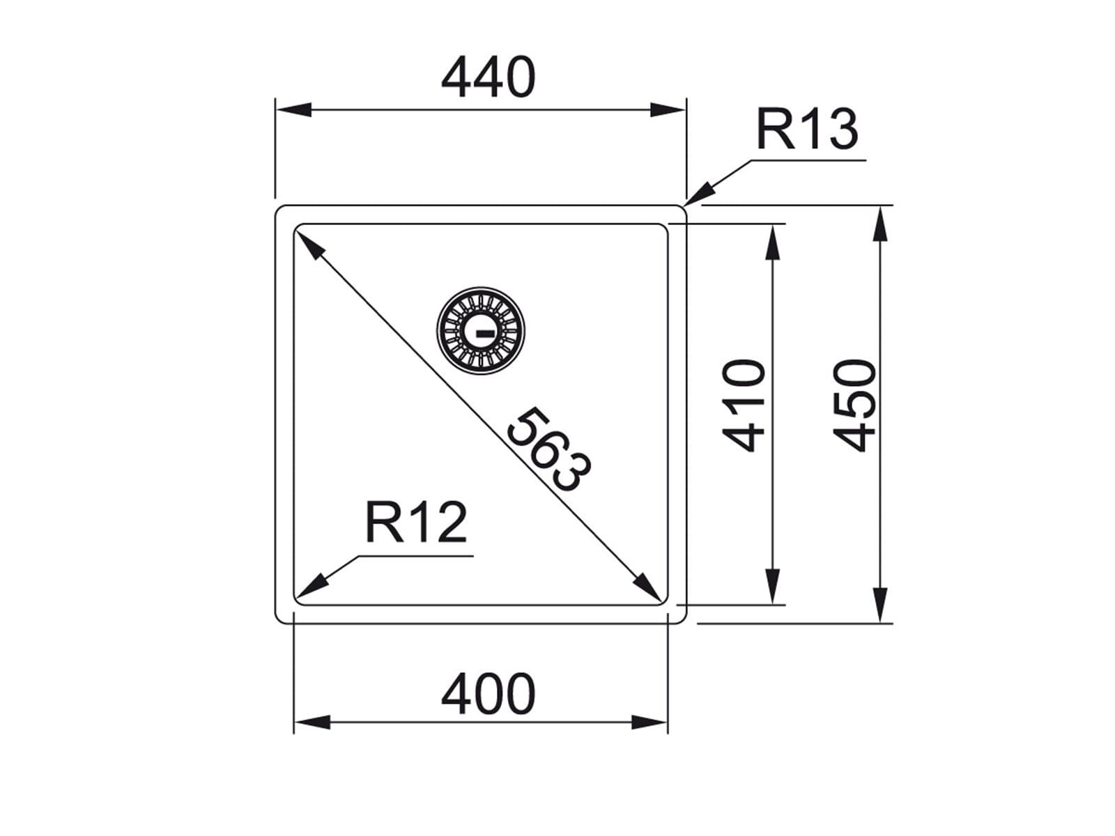 Franke Box BXX 110-40 Edelstahlspüle glatt - 122.0375.254 Unterbau
