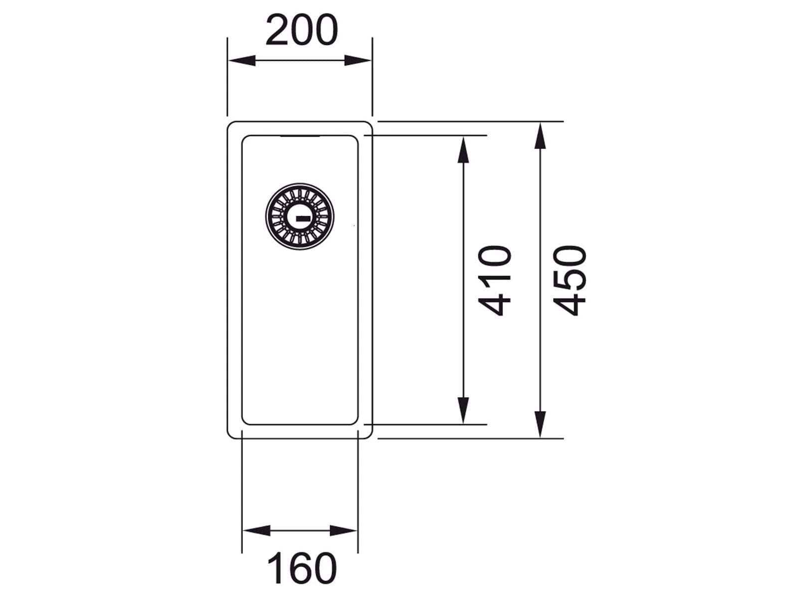 Franke Box BXX 210/110-16 Edelstahlspüle glatt - 127.0361.213 Auflage/ Flächenbündig/ Unterbau