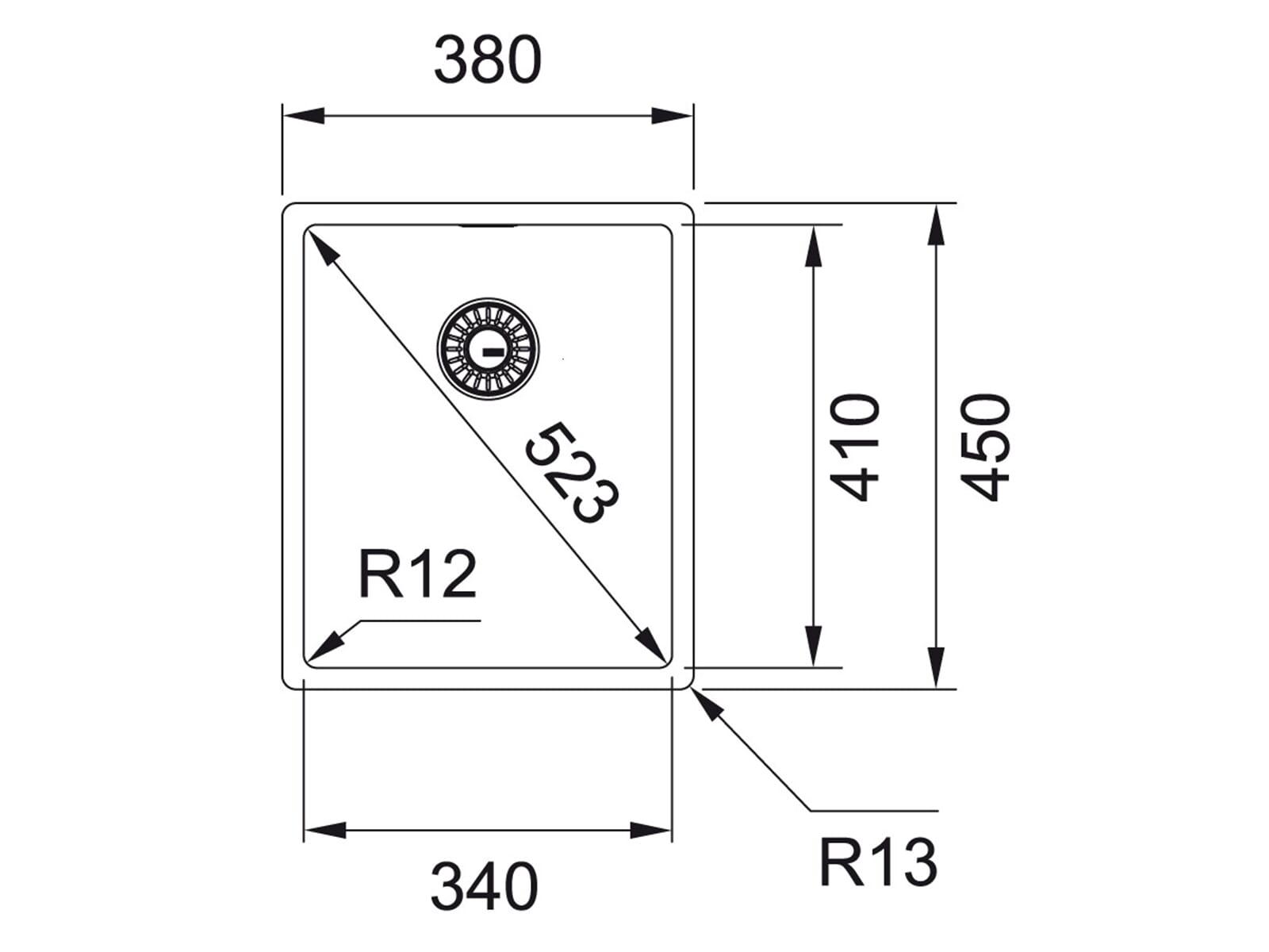 Franke Box BXX 210/110-34 Edelstahlspüle glatt/ Auflage/ Flächenbündig/ Unterbau