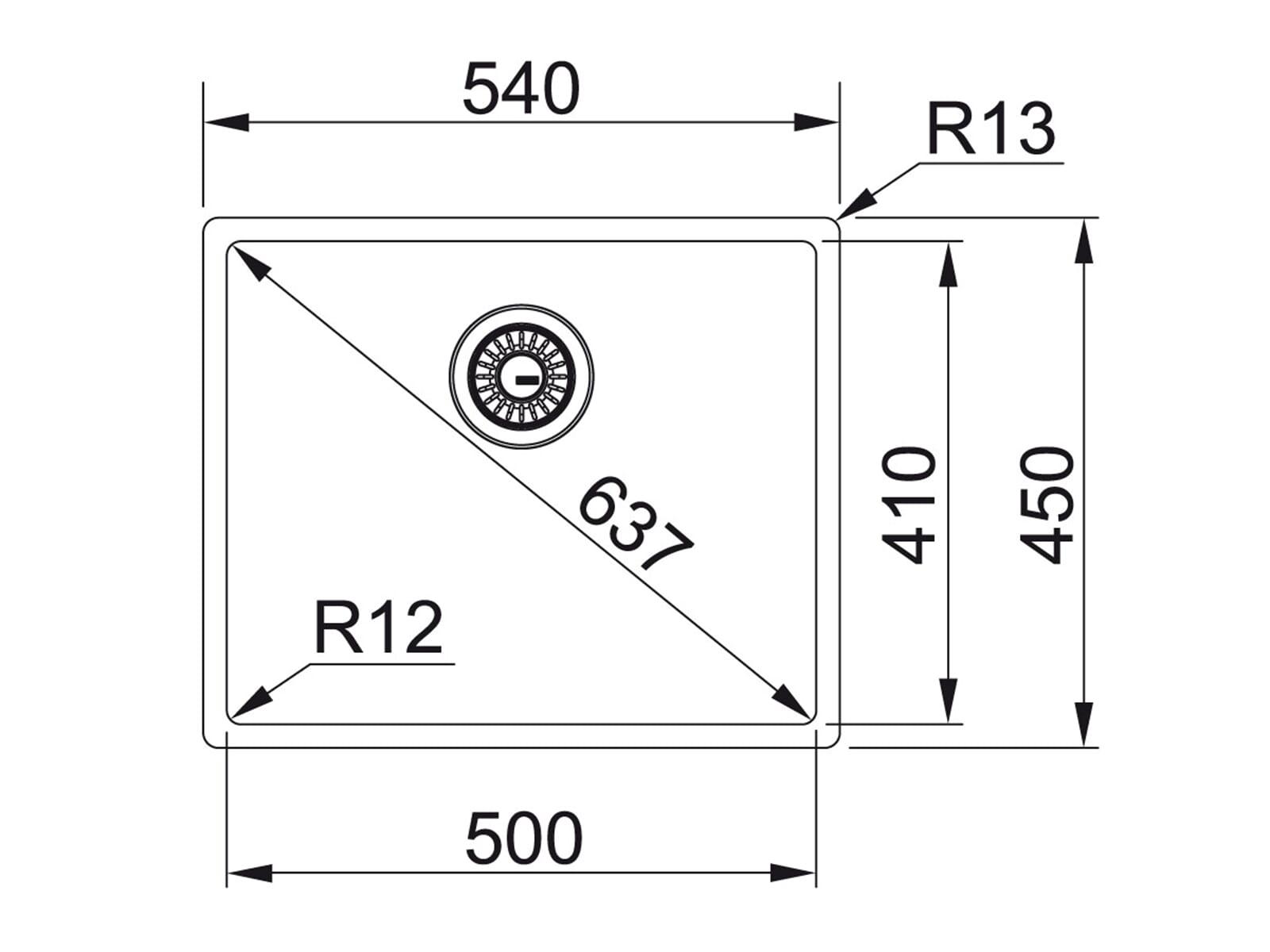 Franke Box BXX 210/110-50 Edelstahlspüle glatt - 127.0375.273 Auflage/ Flächenbündig/ Unterbau