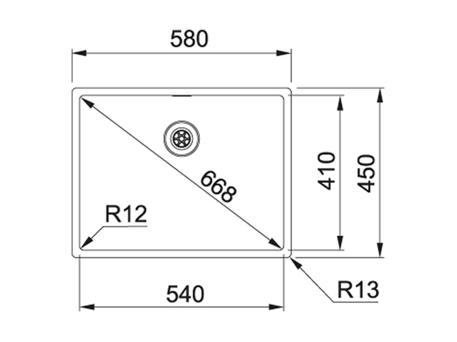 Franke Box BXX 210/110-54 Edelstahlspüle glatt - 127.0361.222 Auflage flächenbündig Unterbau