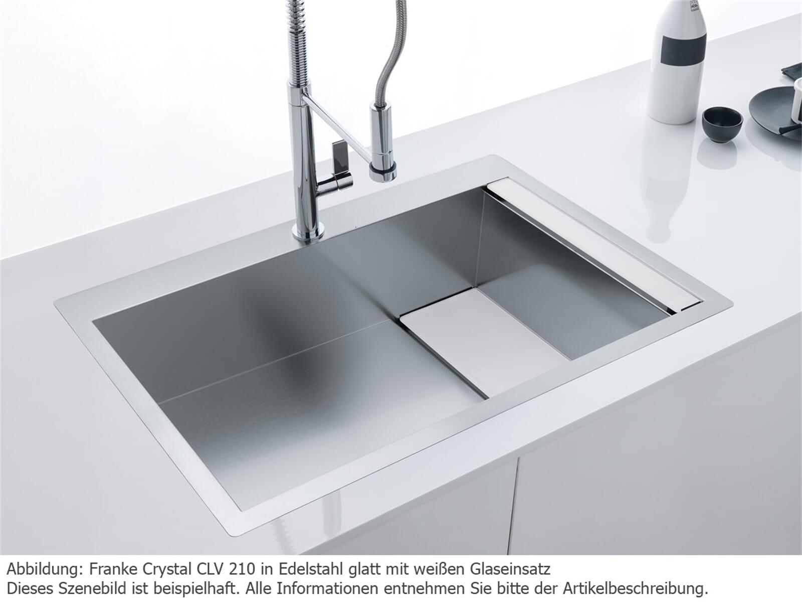 Franke Crystal CLV 210 Edelstahlspüle glatt - 127.0338.946