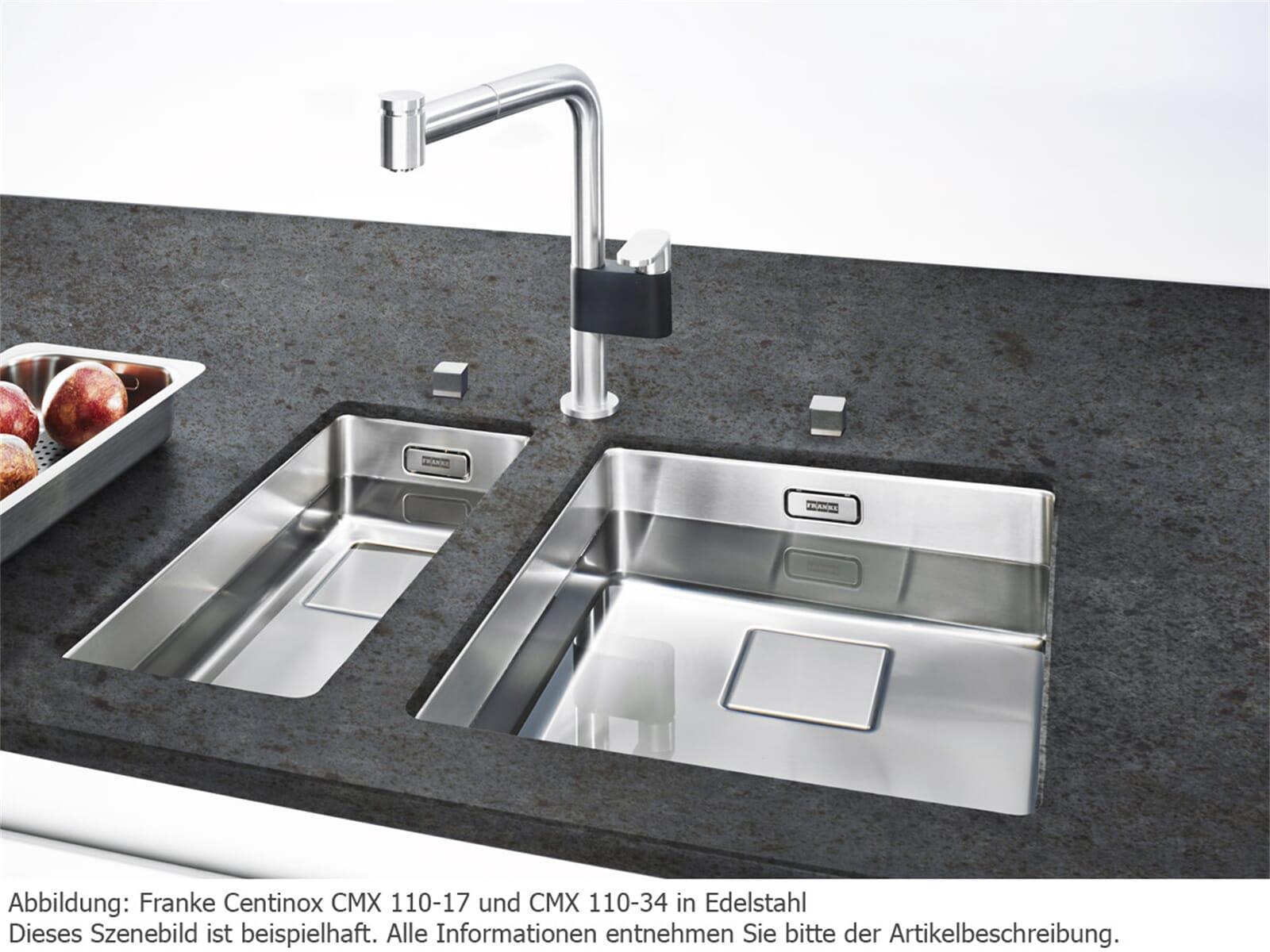 Sehr Franke Centinox CMX 110-34 Edelstahlspüle glatt - 122.0281.708 MW02