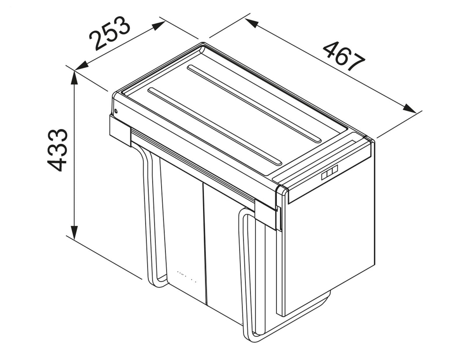 Franke Sorter Cube 30 - 134.0039.555 Einbau Abfallsammler