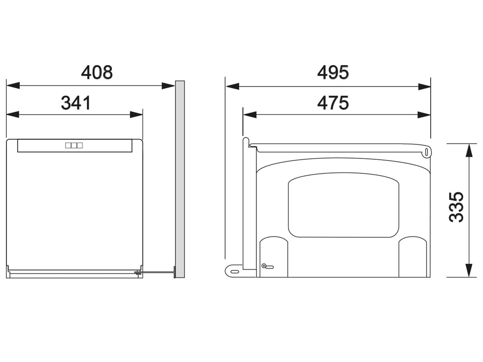 Franke Sorter Cube 41 - 134.0055.273 Einbau Abfallsammler
