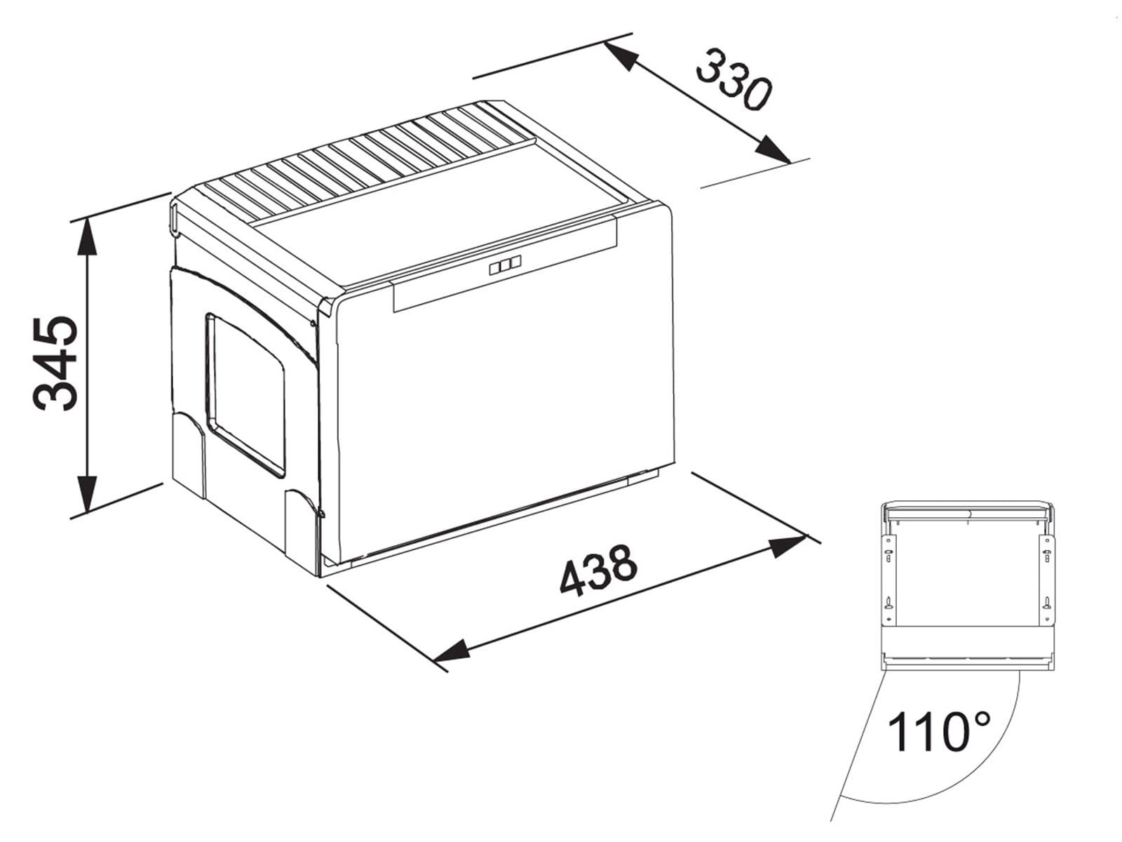 Franke Sorter Cube 50 - 134.0055.292 Einbau Abfallsammler