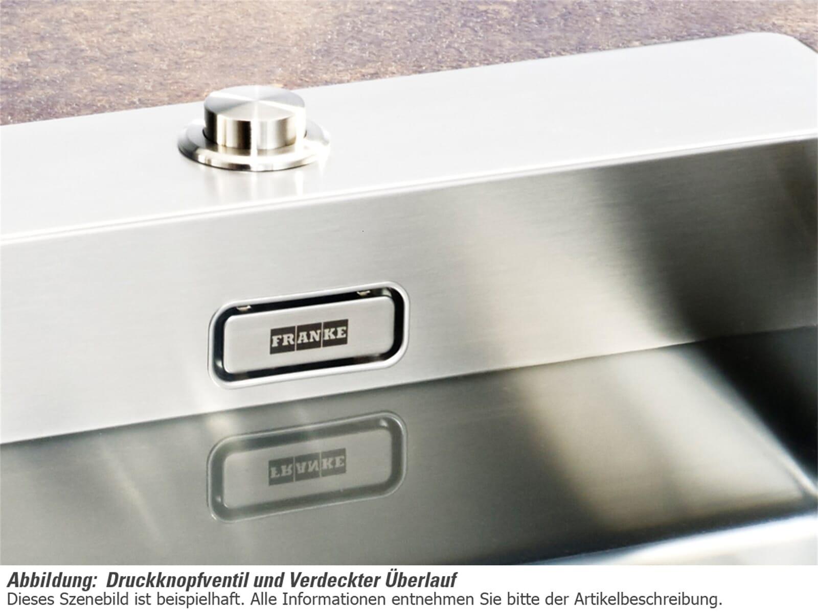 Franke Box BXX 210-50 A Edelstahlspüle glatt - 127.0375.342 Auflage/ Flächenbündig