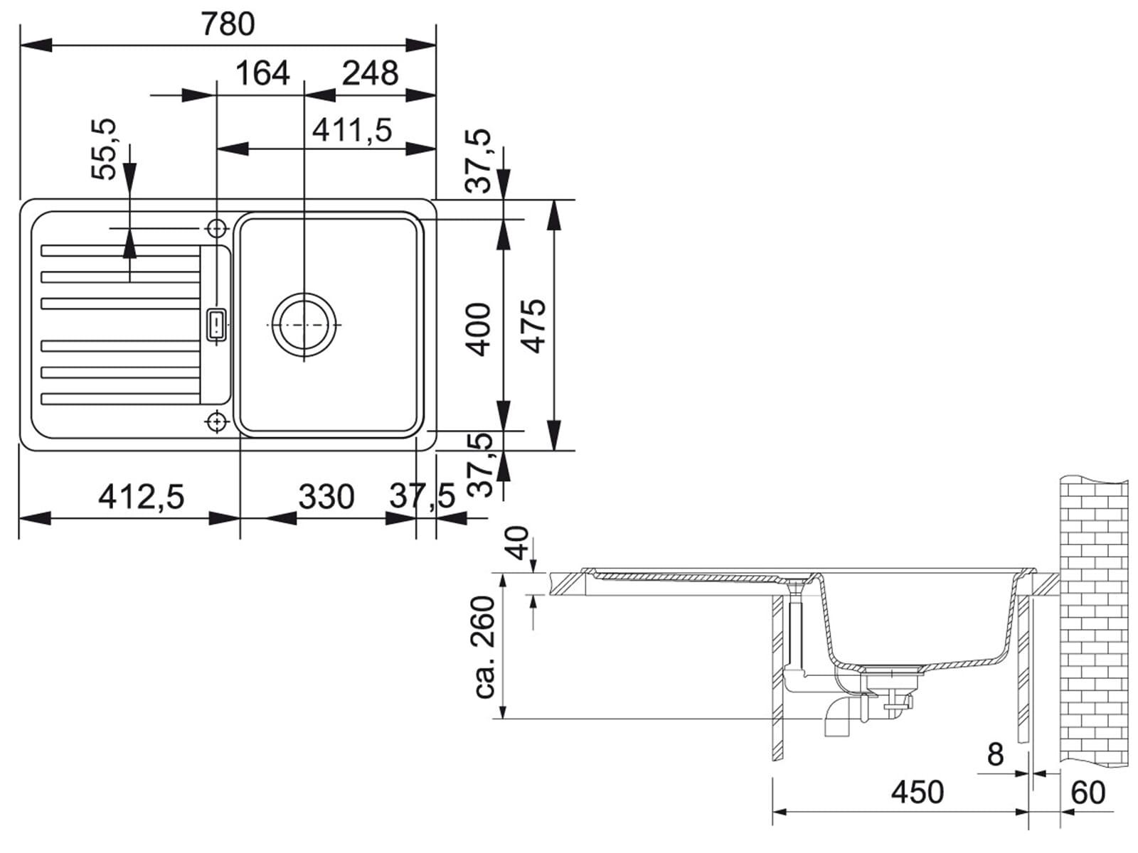Franke Euroform EFG 614-78 Cashmere Granitspüle