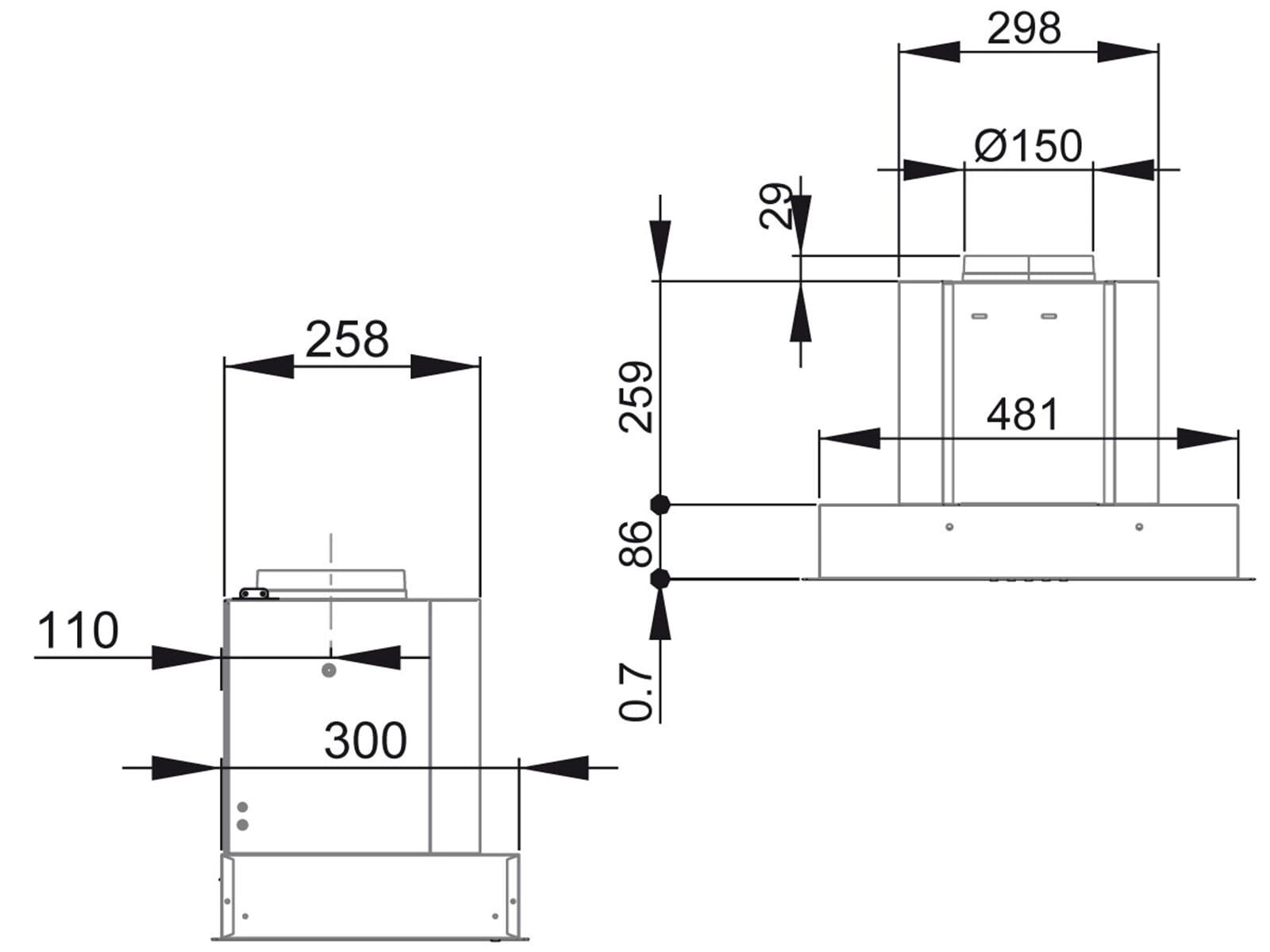 Franke Galaxy FGB 520 XS Lüfterbaustein Edelstahl