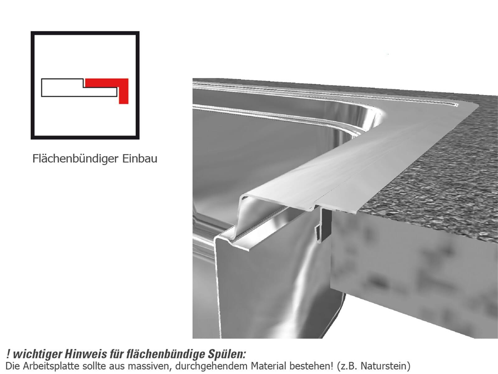 Franke Hydros HDX 214 Edelstahlspüle glatt - 127.0378.717