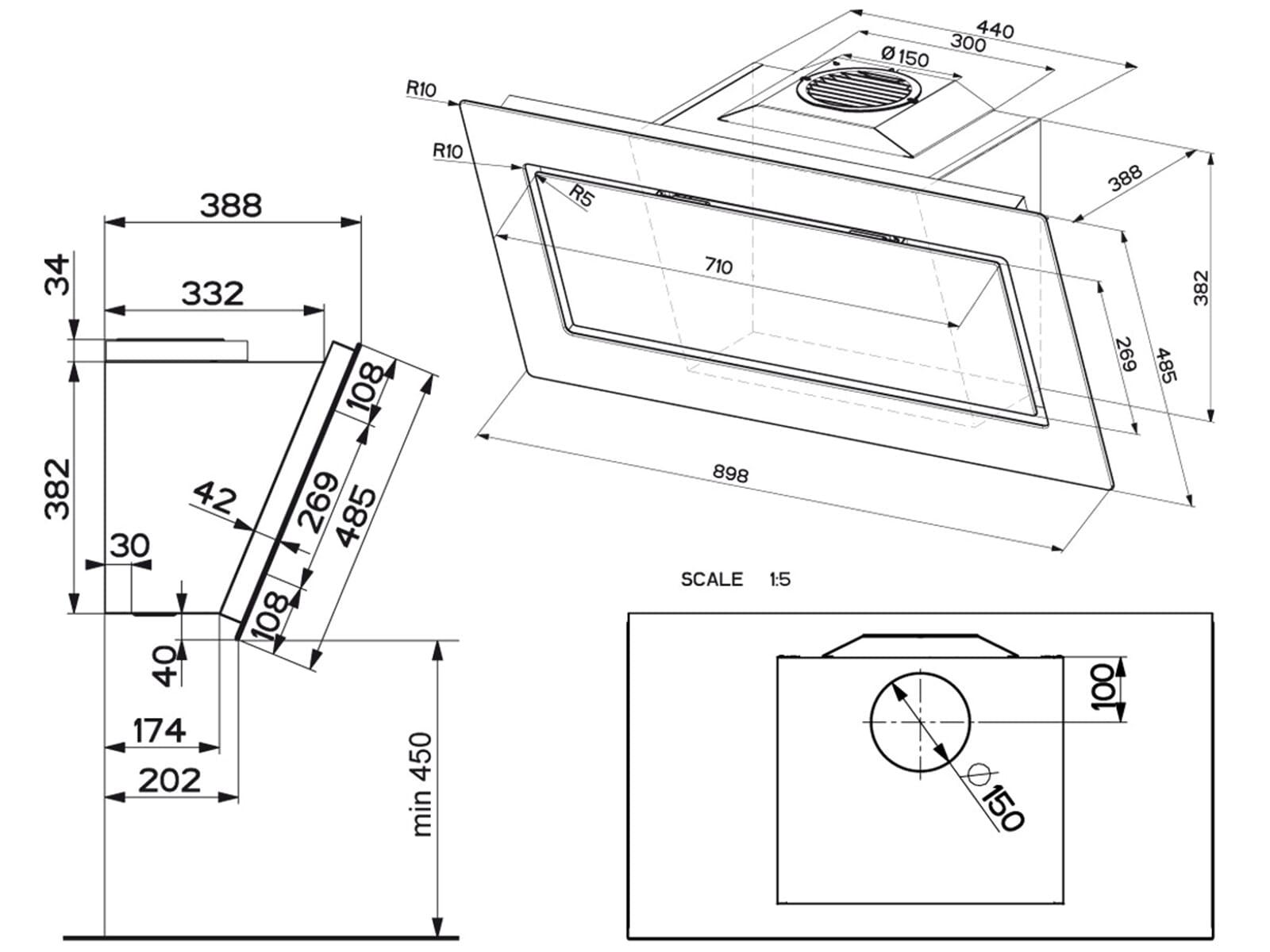 franke mythos fmy 906 dg kopffreihaube schiefergrau. Black Bedroom Furniture Sets. Home Design Ideas