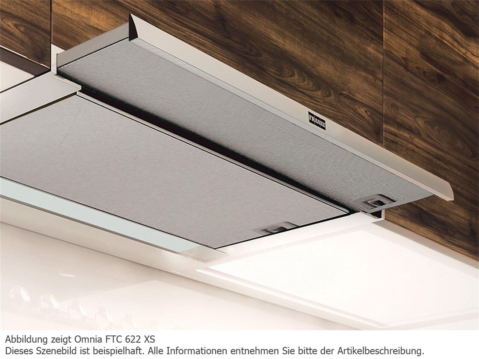 franke omnia ftc 622 xs flachschirmhaube edelstahl. Black Bedroom Furniture Sets. Home Design Ideas