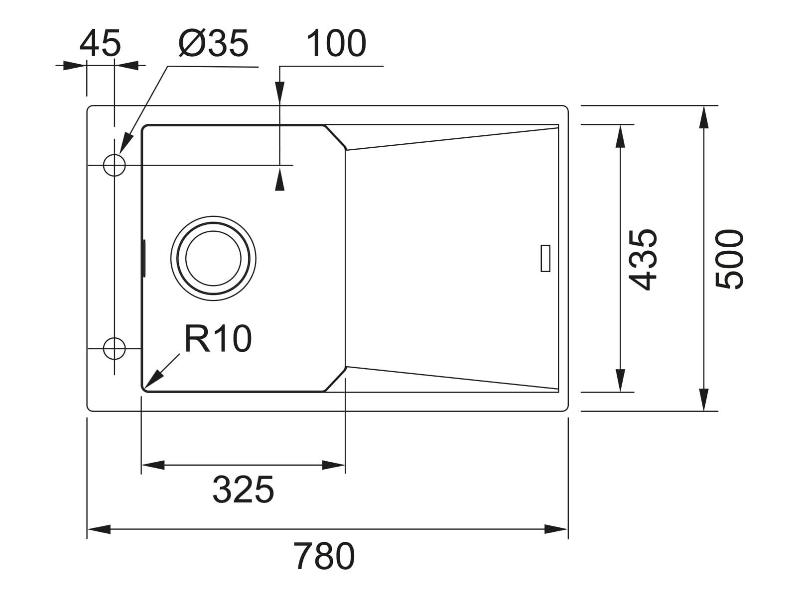Franke FXG 611-78 Steingrau - 114.0512.410 Granitspüle Exzenterbetätigung