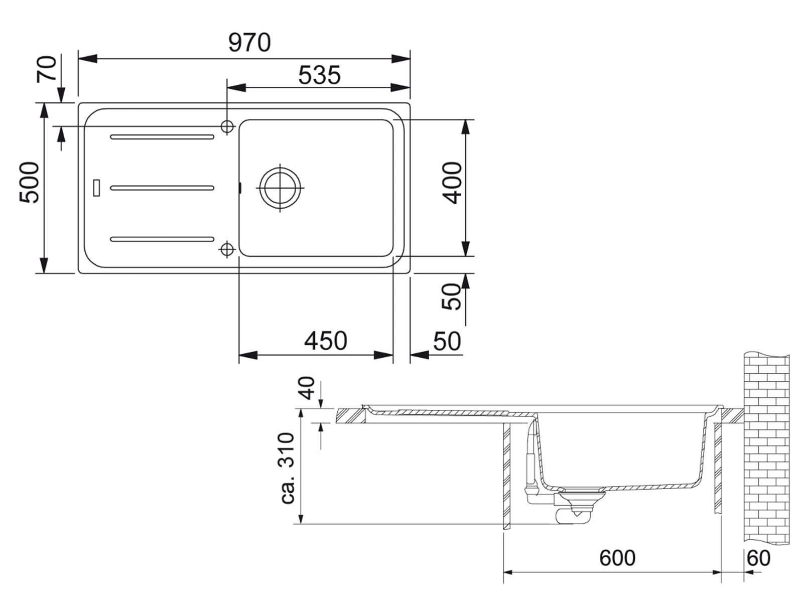 Franke Impact G IMG 611-100 G Beige Granitspüle