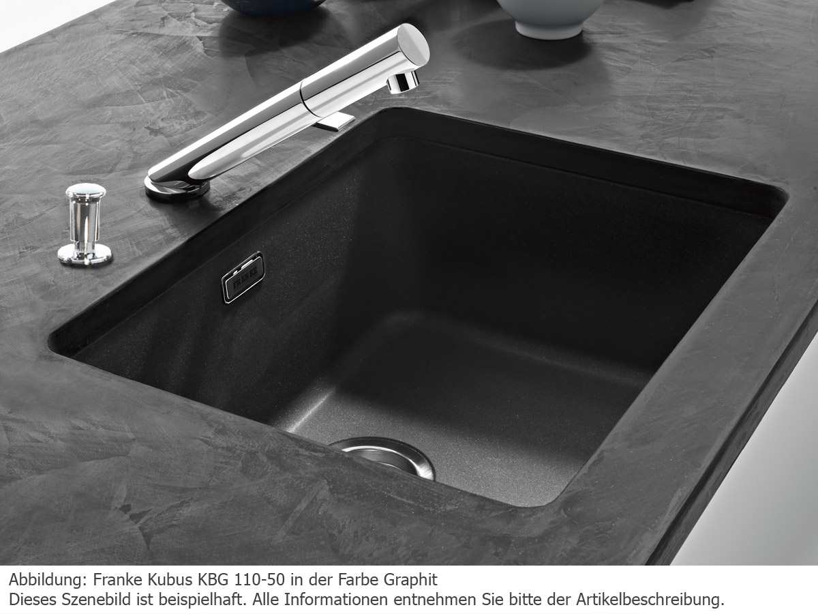 Franke Kubus KBG 110-50 Beige - 125.0176.654 Granitspüle