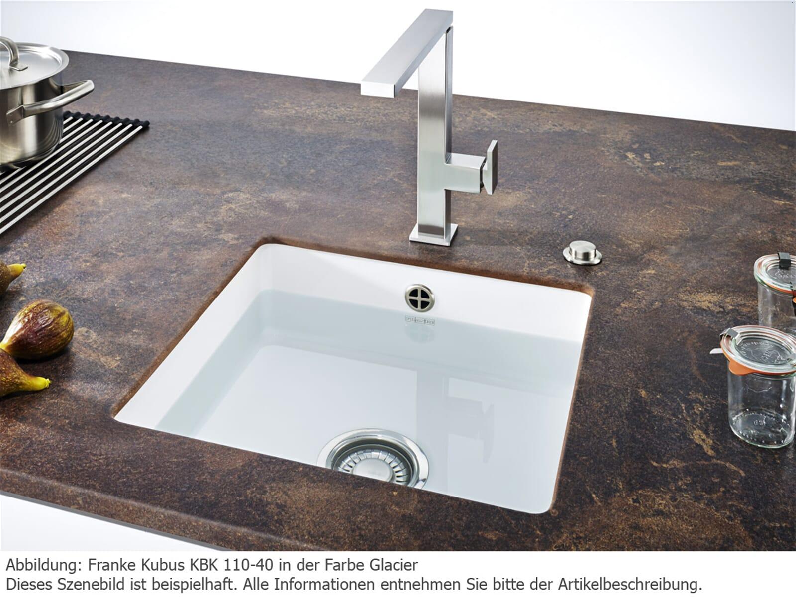 Franke Kubus KBK 110-40 Cashmere - 126.0335.876 Keramikspüle