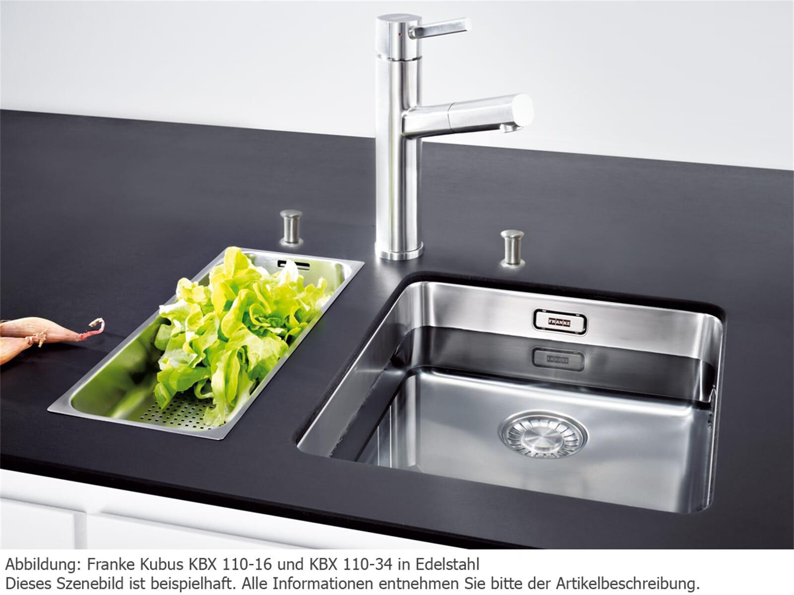 Franke Kubus KBX 110-34 Edelstahlspüle glatt - 122.0382.874