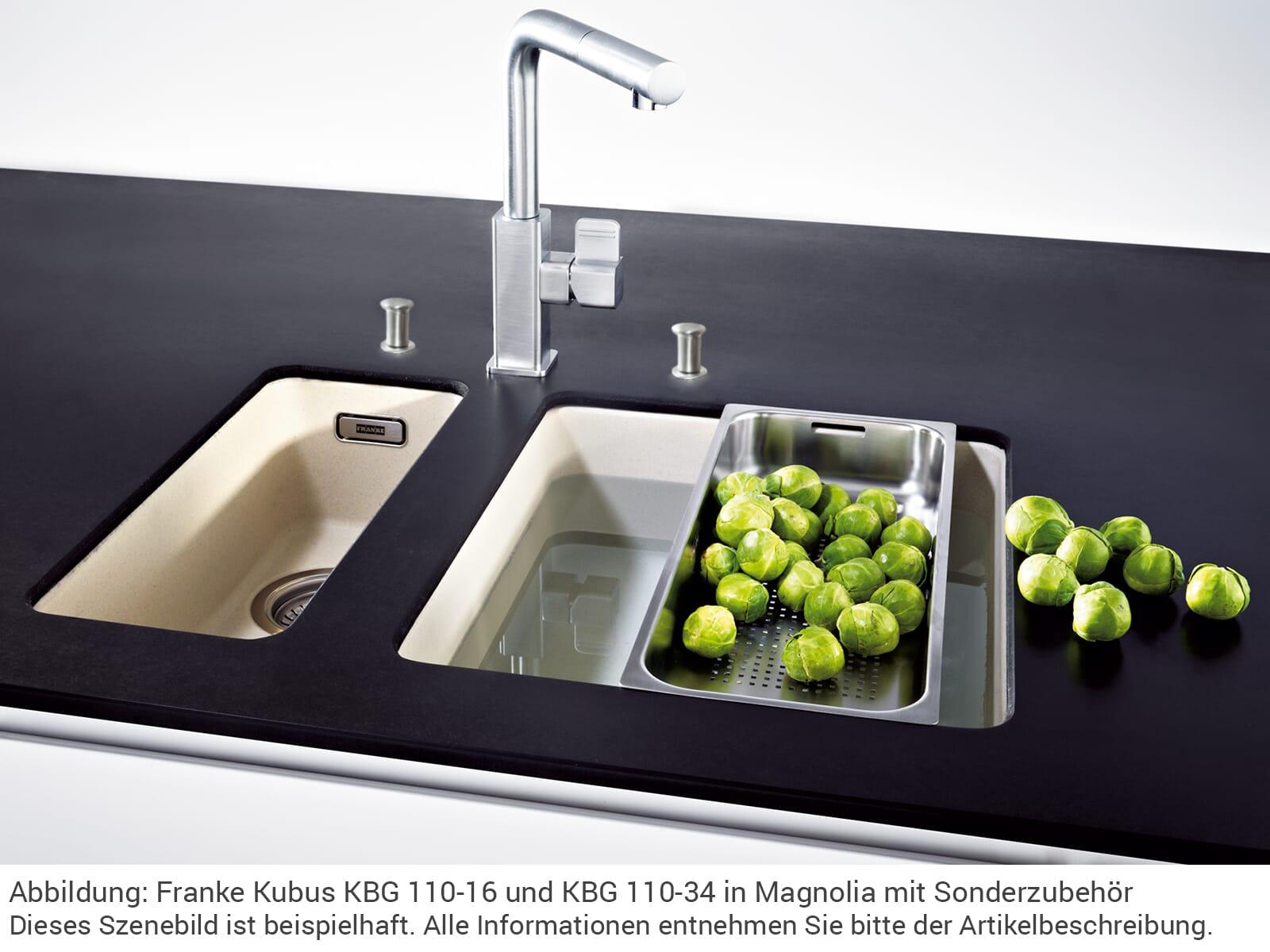 Franke Kubus KBG 110-16 Graphit - 125.0023.843 Granitspüle