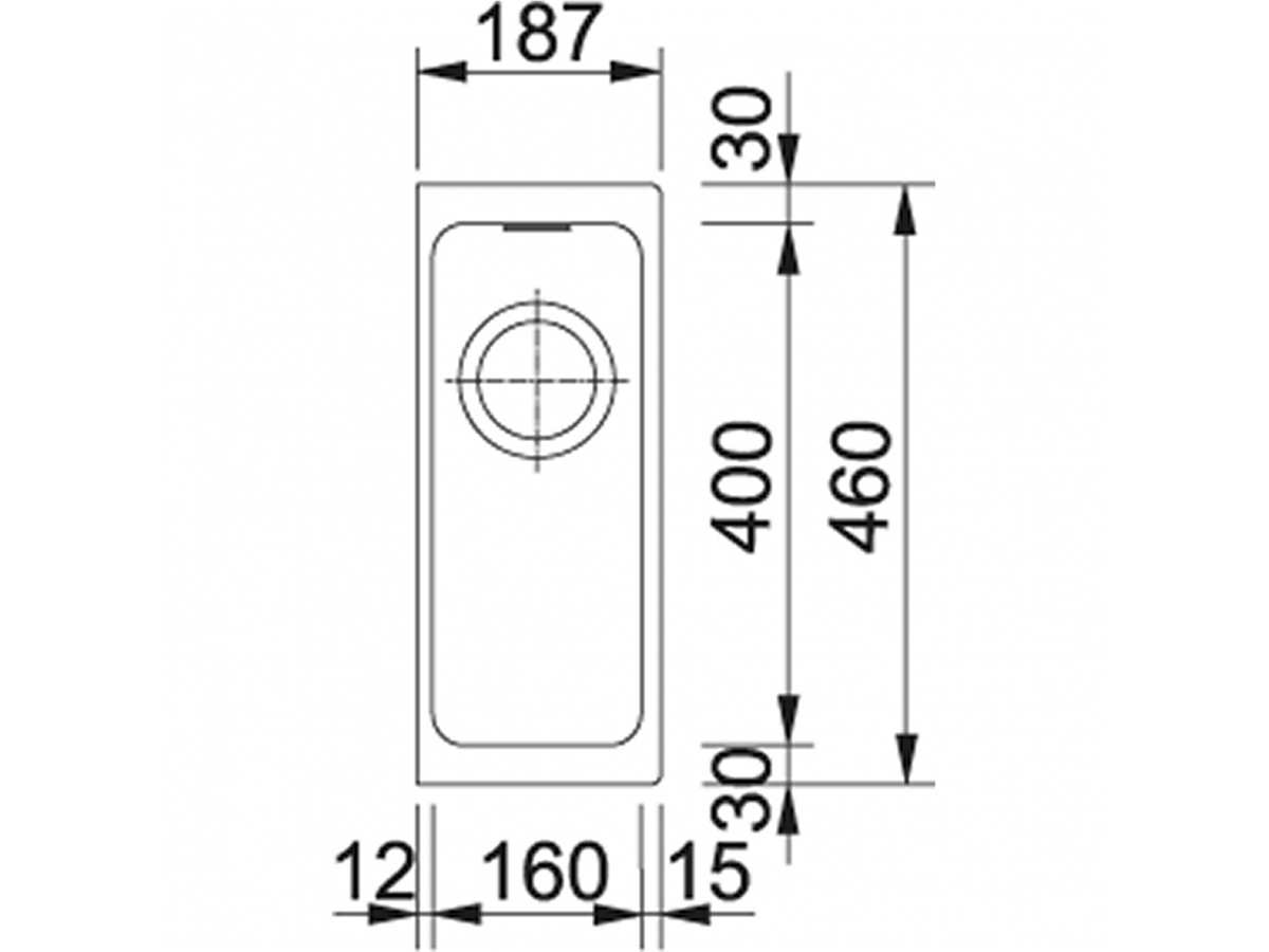 Franke Kubus KBG 110-16 Steingrau - 11772 Granitspüle