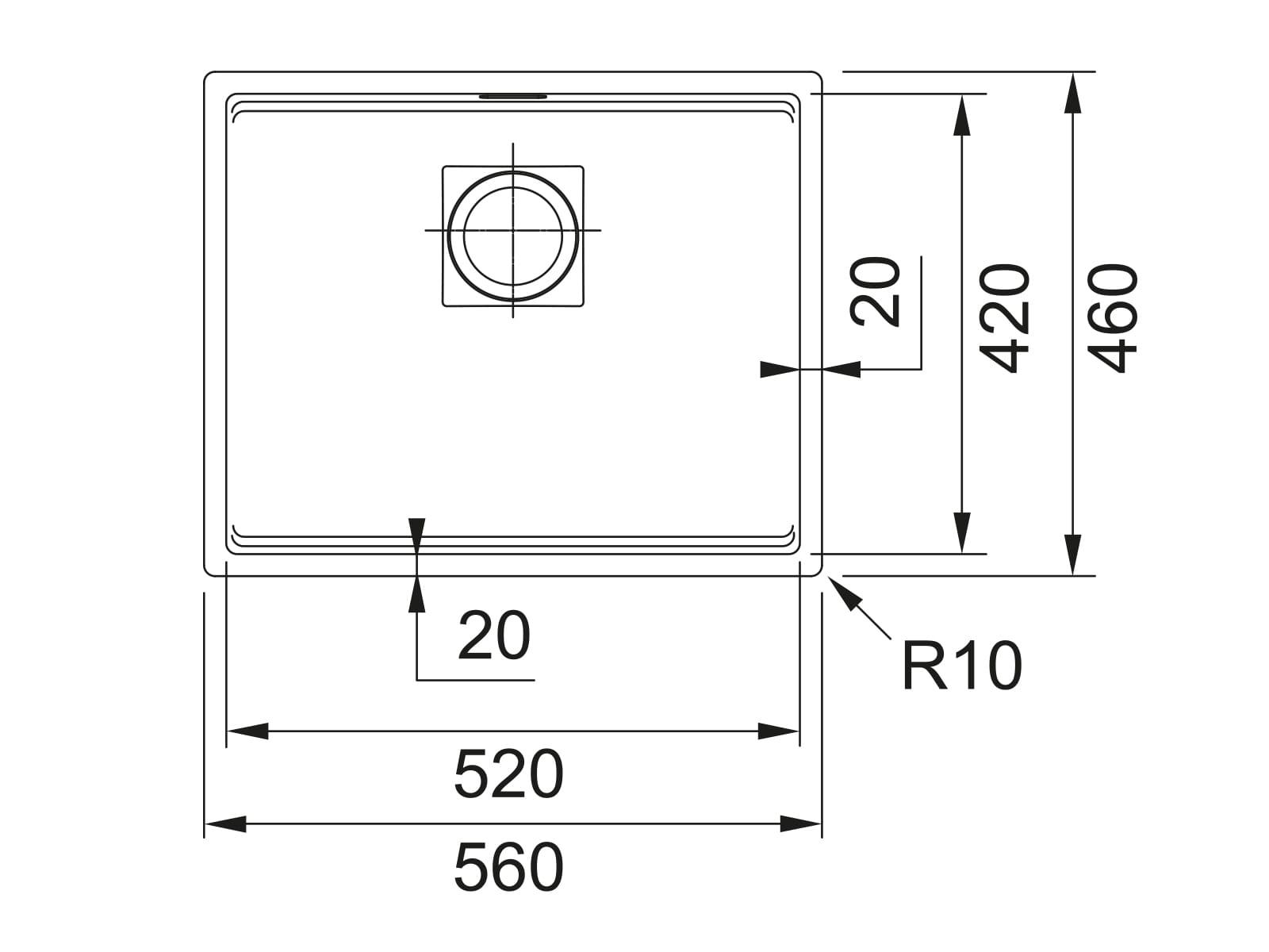 Franke Kubus 2 KNG 110-52 Steingrau - 11762 Granitspüle Exzenterbetätigung