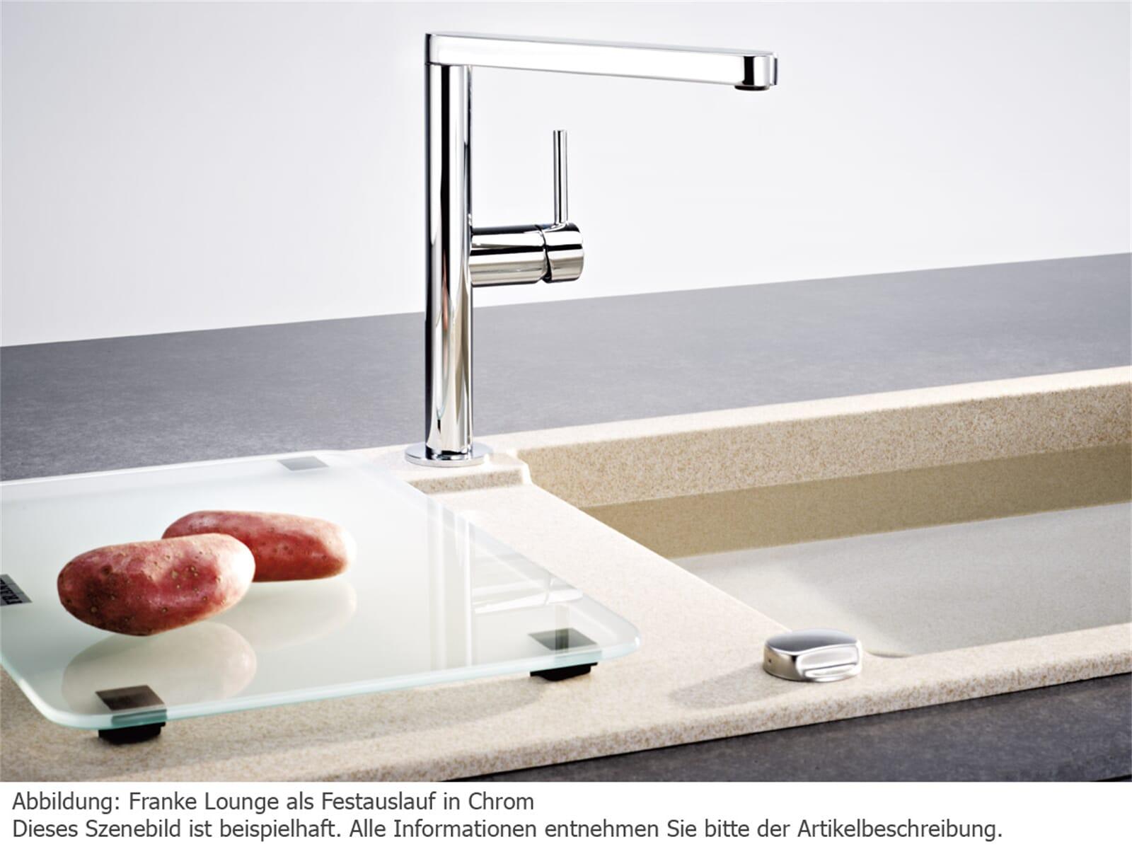 Franke Lounge Edelstahl-Optik Hochdruckarmatur