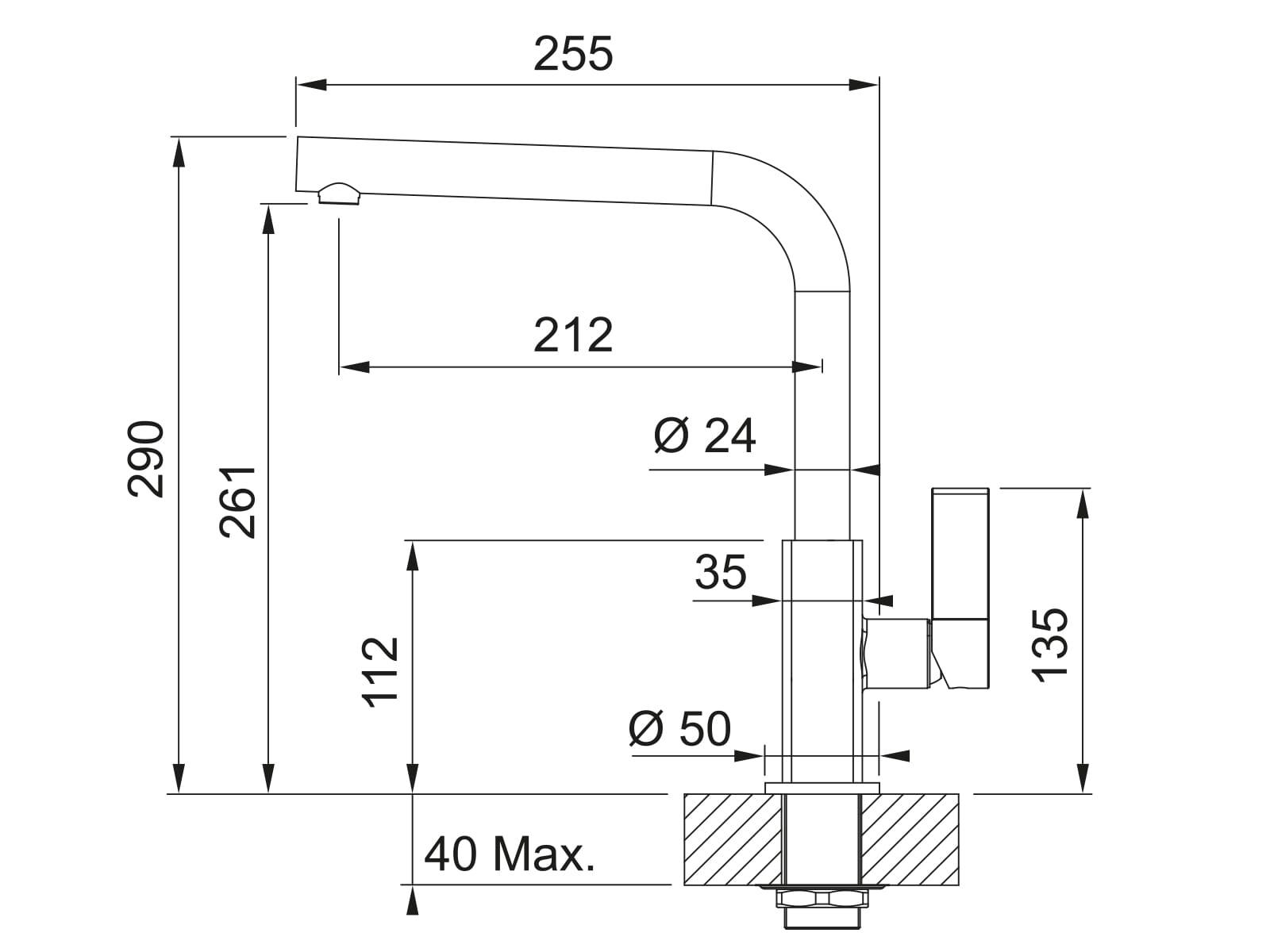 Franke Maris Onyx - 11059 Hochdruckarmatur