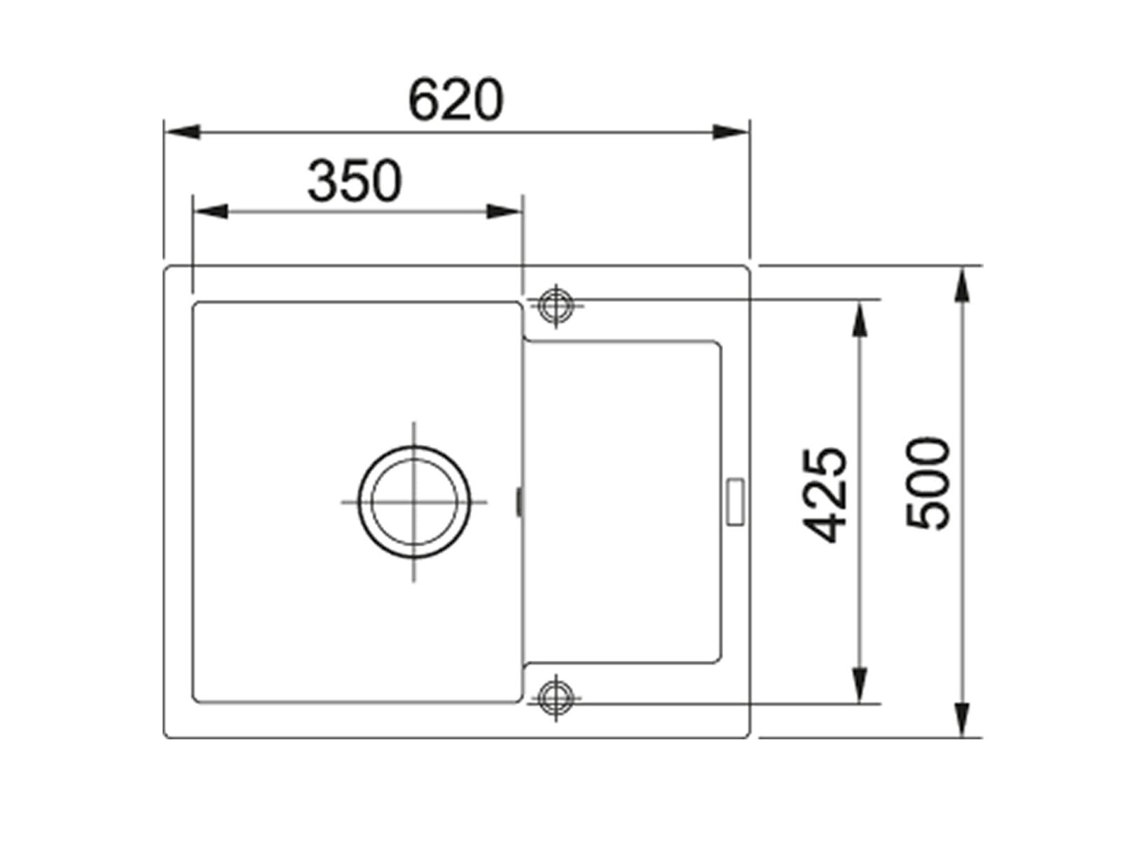 Franke Maris MRG 611-62 Steingrau - 114.0477.503 Granitspüle Exzenterbetätigung