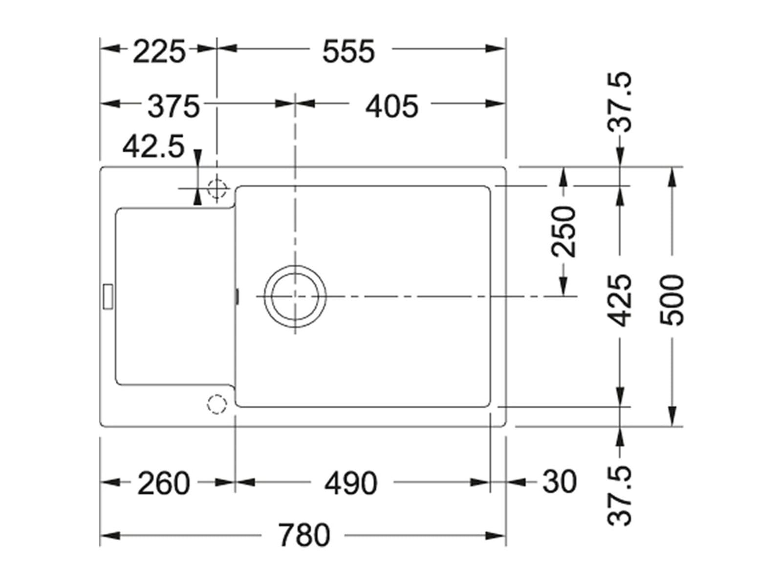 Franke Maris MRG 611-78 XL Magnolia - 114.0476.141 Granitspüle Exzenterbetätigung