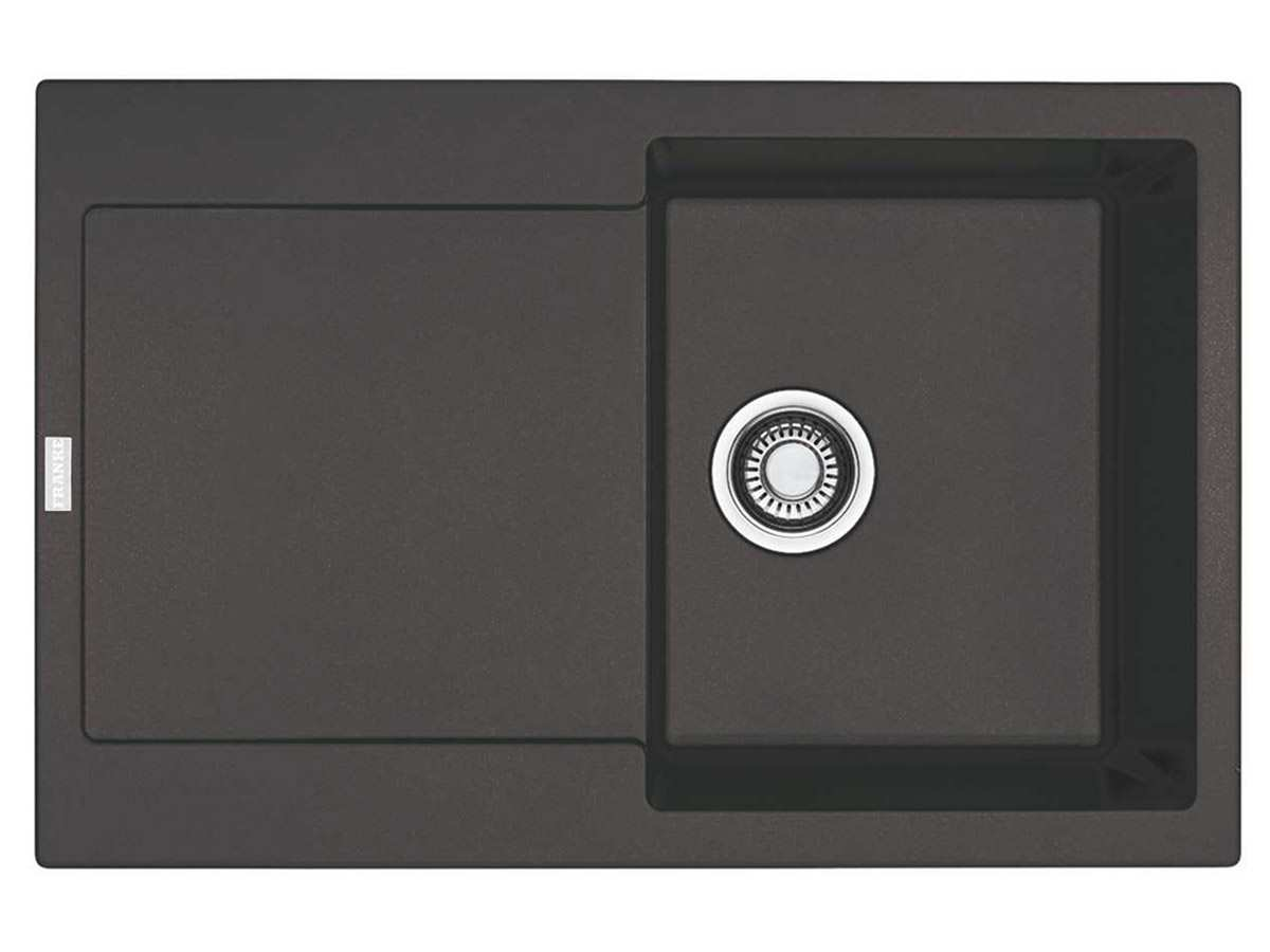 franke maris mrg 611 graphit granitsp le druckknopfventil. Black Bedroom Furniture Sets. Home Design Ideas