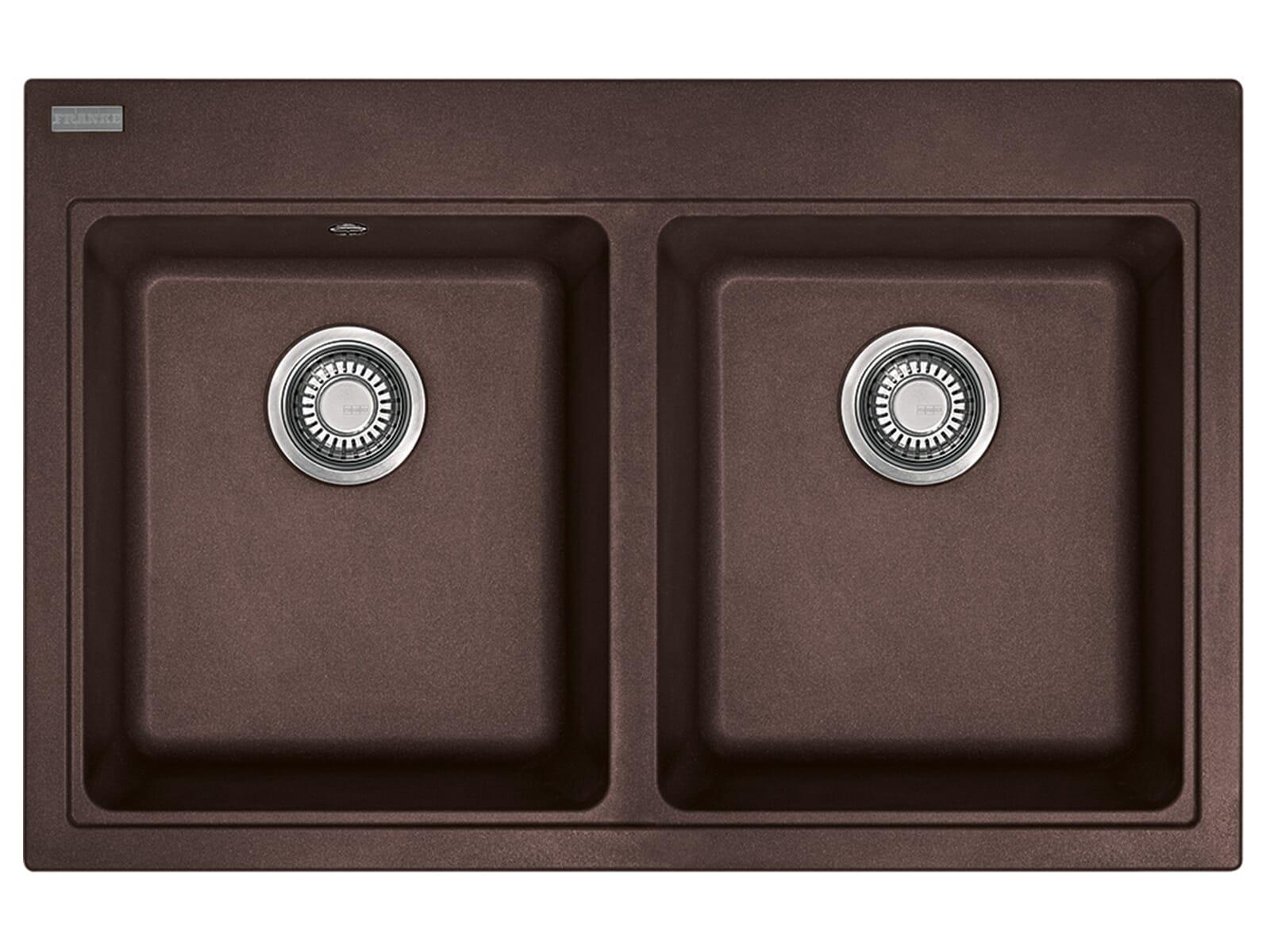 Franke Maris MRG 620 Chocolate - 114.0477.539 Granitspüle Exzenterbetätigung