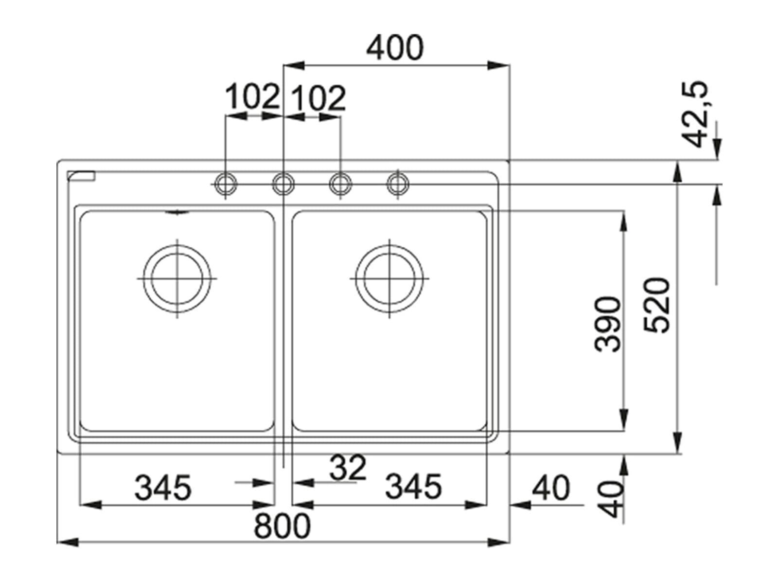 Franke Maris MRG 620 Graphit - 114.0477.531 Granitspüle Exzenterbetätigung
