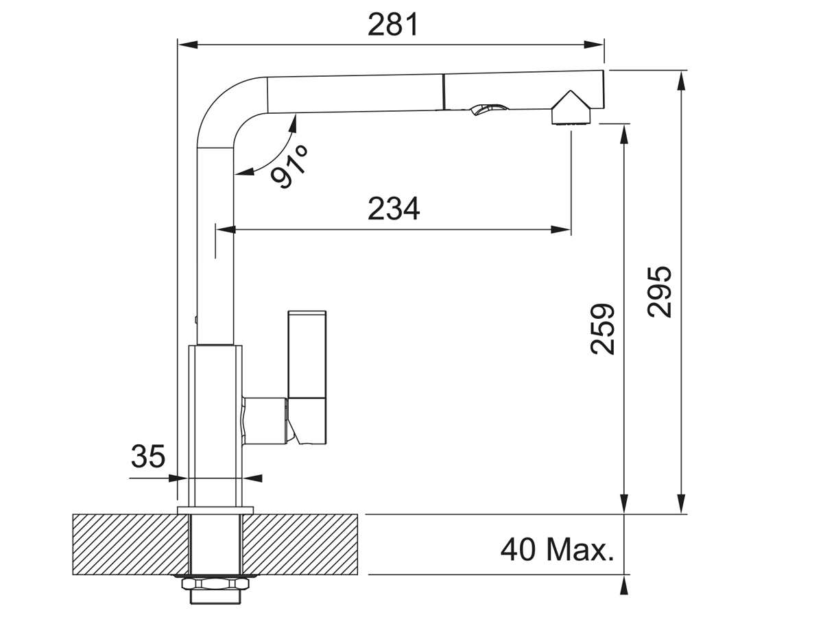 Franke Maris Cashmere - 11205 Hochdruckarmatur