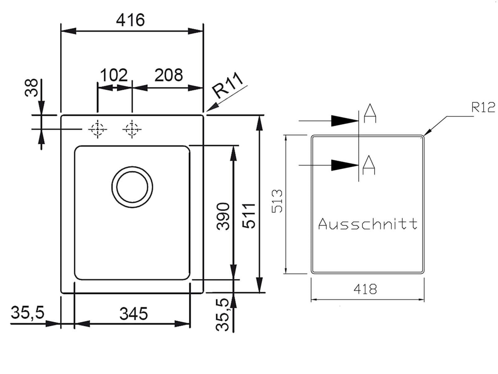 Franke Maris MRG 210-42 Onyx - 135.0339.202 Granitspüle
