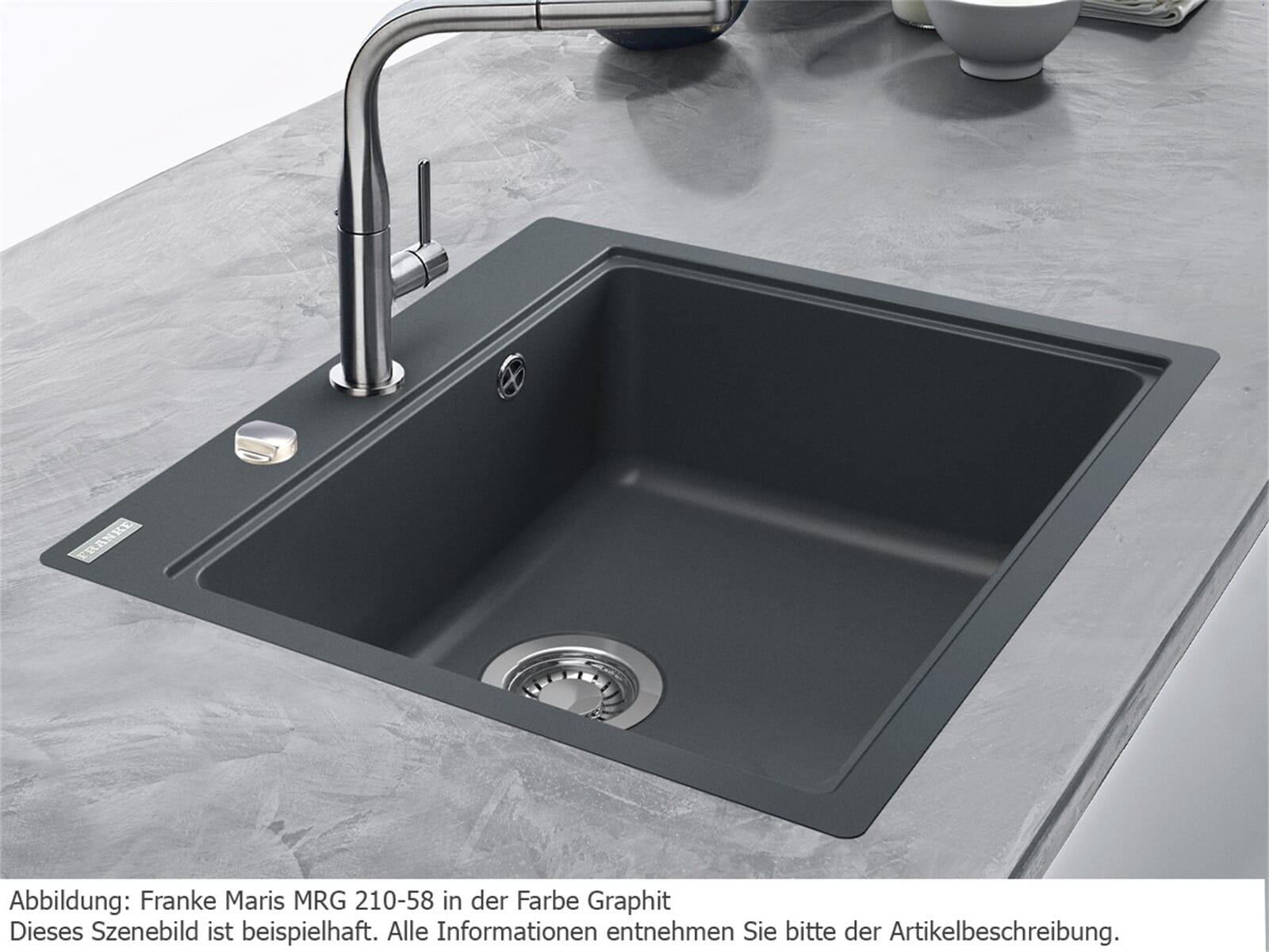Franke Maris MRG 210-58 Graphit - 11565 Granitspüle Exzenterbetätigung