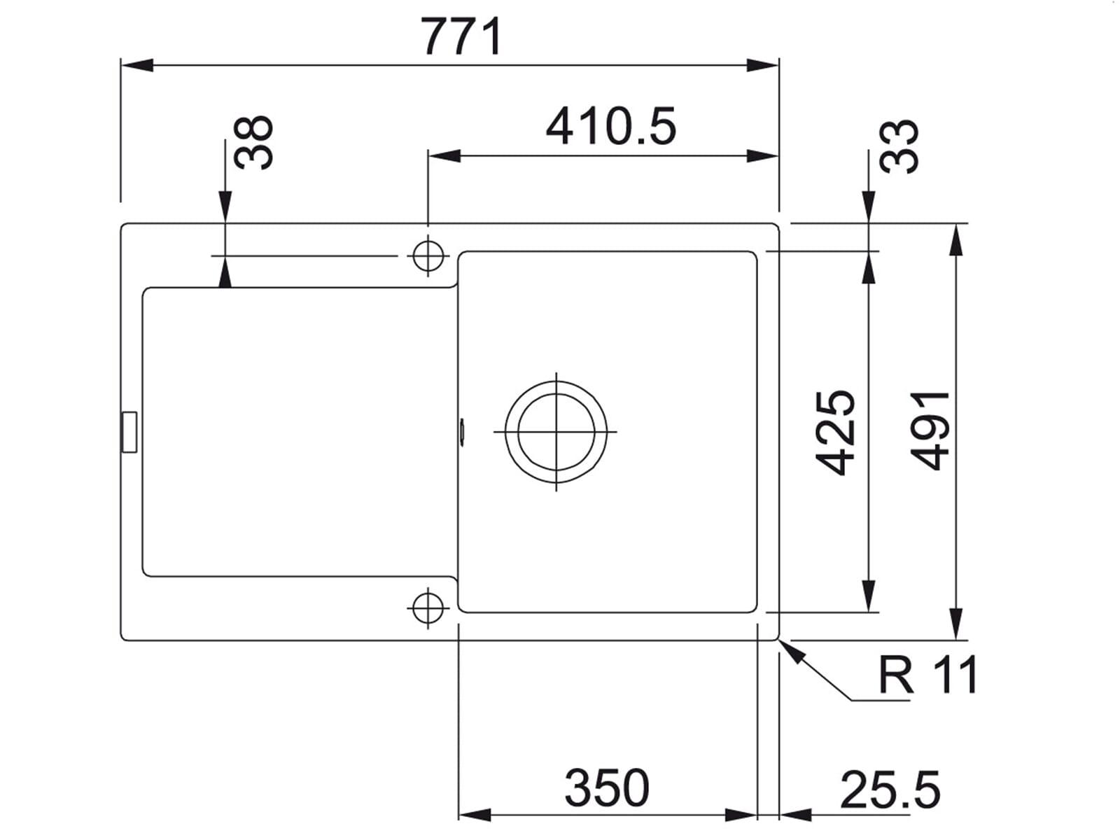 Franke Maris MRG 211-77 Beige - 135.0302.798 Granitspüle