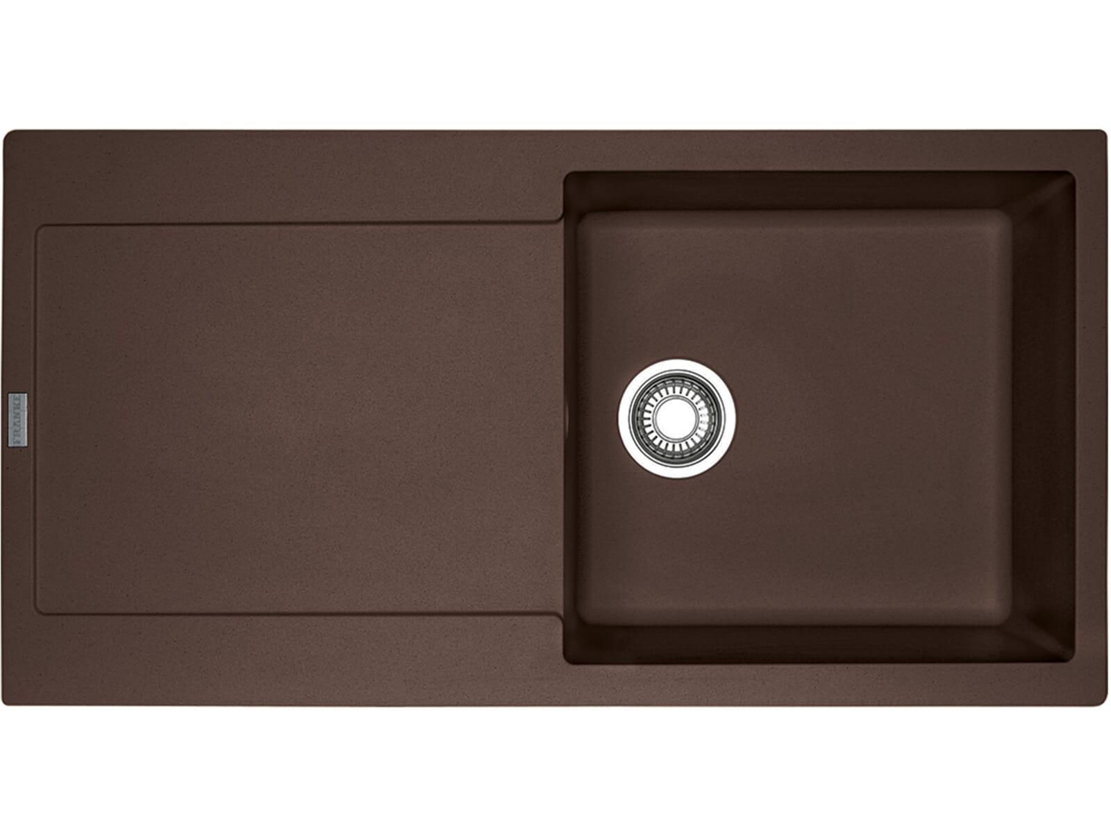 Franke Maris MRG 611 Chocolate - 114.0477.363 Granitspüle Exzenterbetätigung