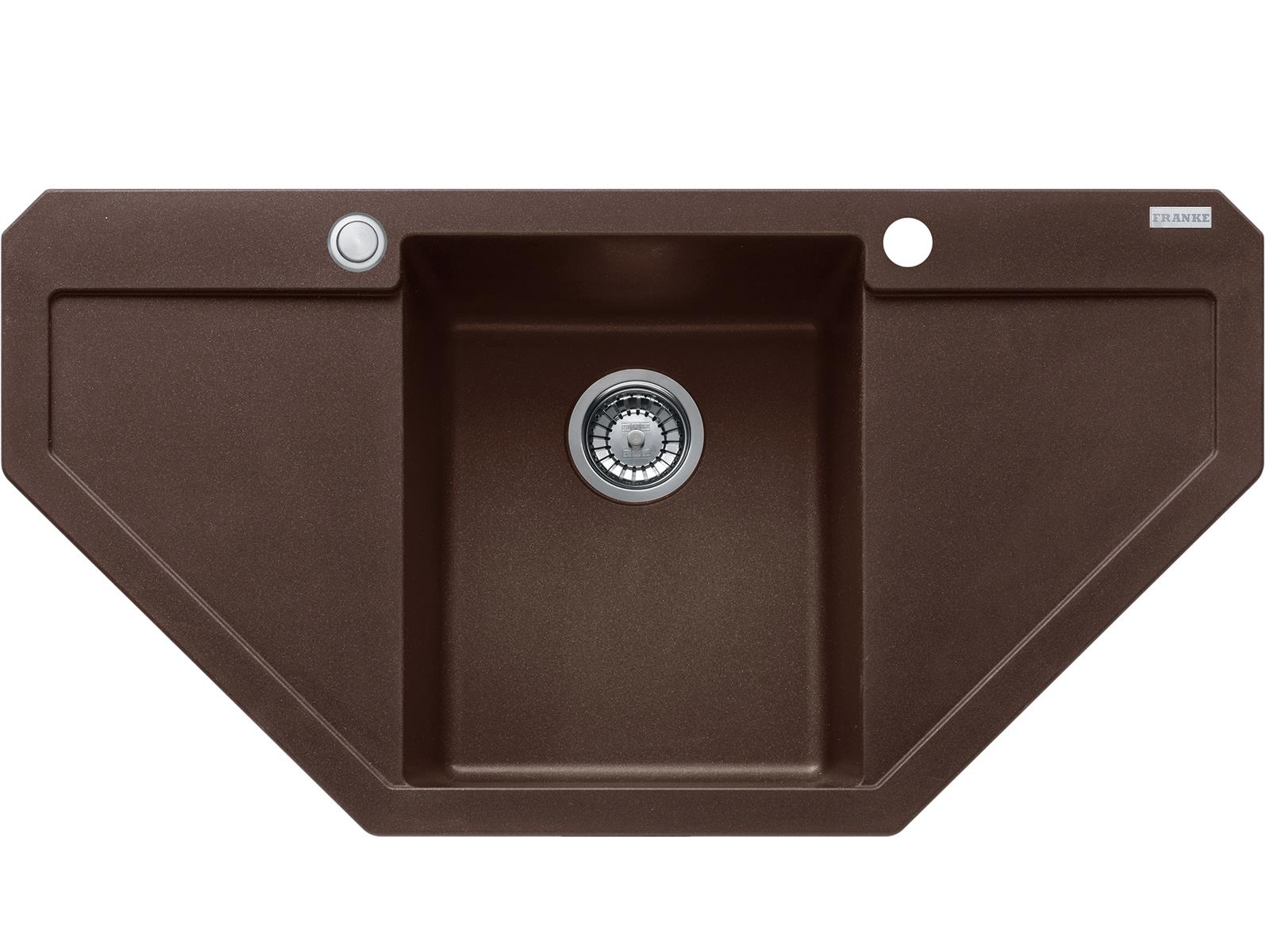 Franke Maris MRG 612-E Chocolate - 114.0477.559 Granitspüle Exzenterbetätigung