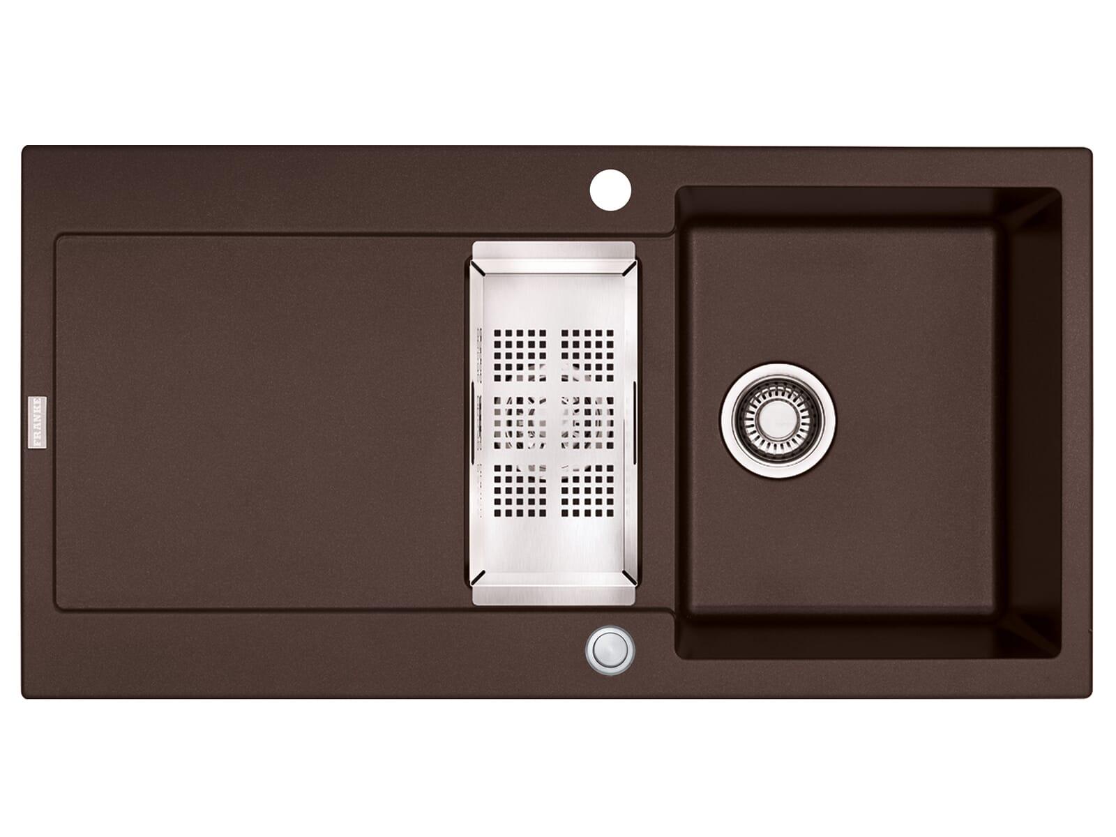 Franke Maris MRG 651 Chocolate - 114.0477.280 Granitspüle Exzenterbetätigung
