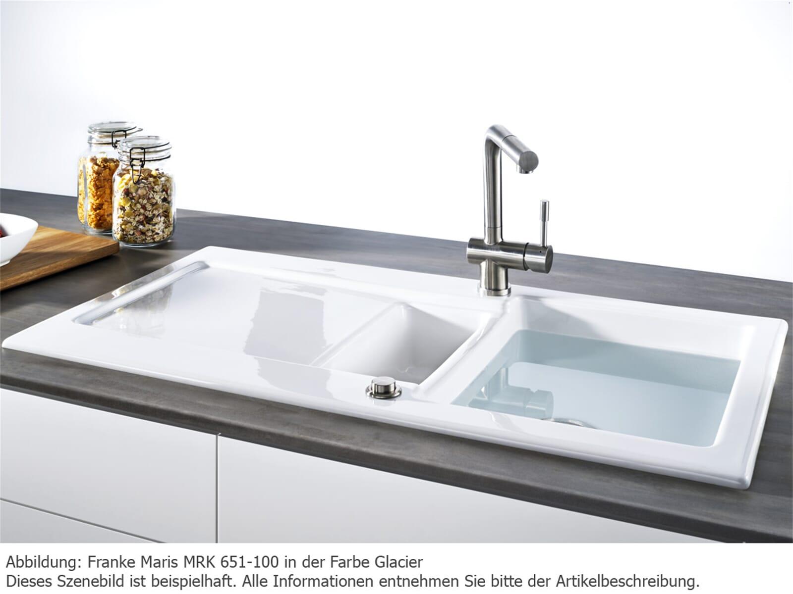 Franke Maris MRK 651-100 Glacier Keramikspüle