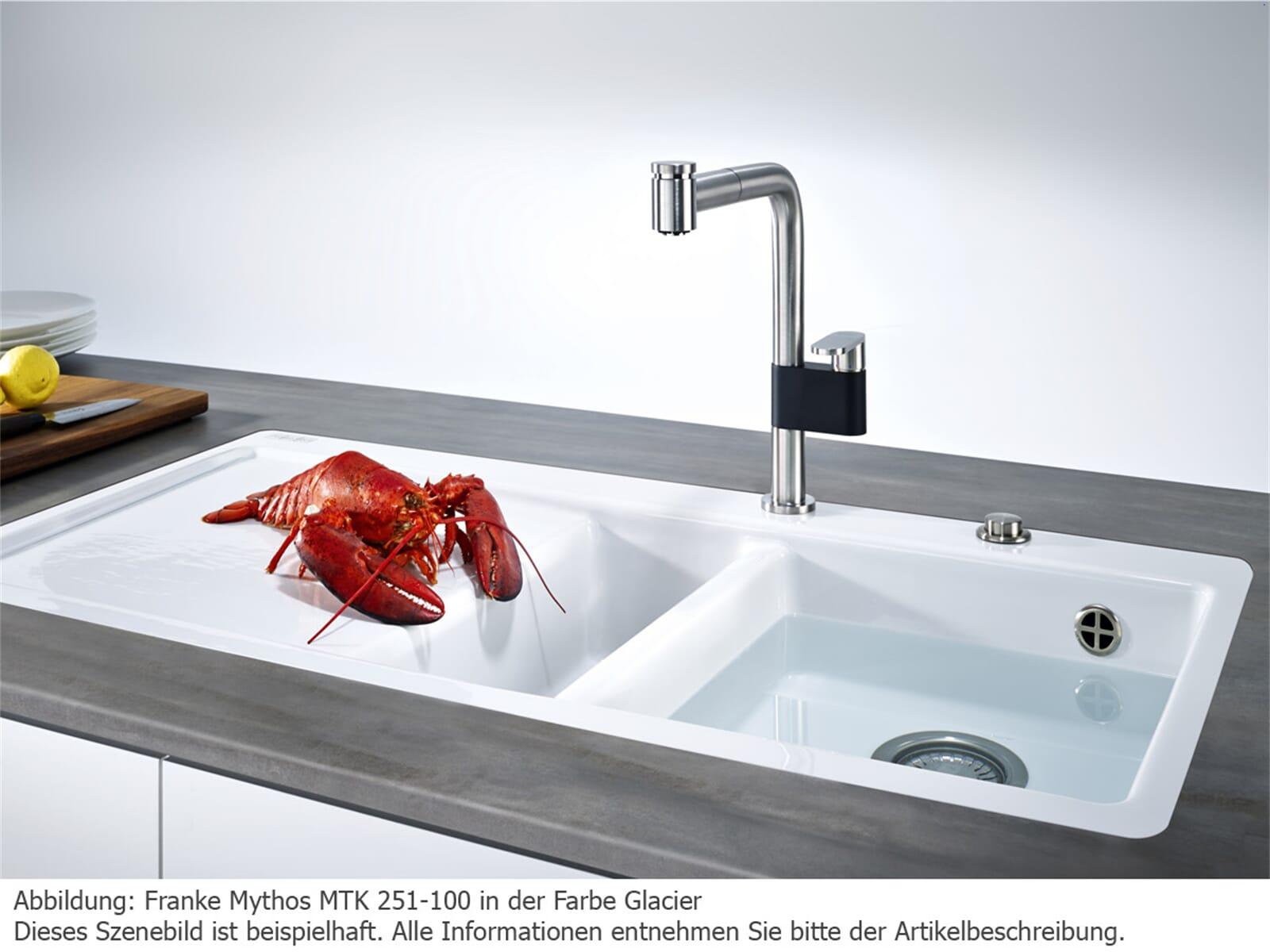 Franke Mythos MTK 251-100 Glacier - 129.0382.455 Keramikspüle