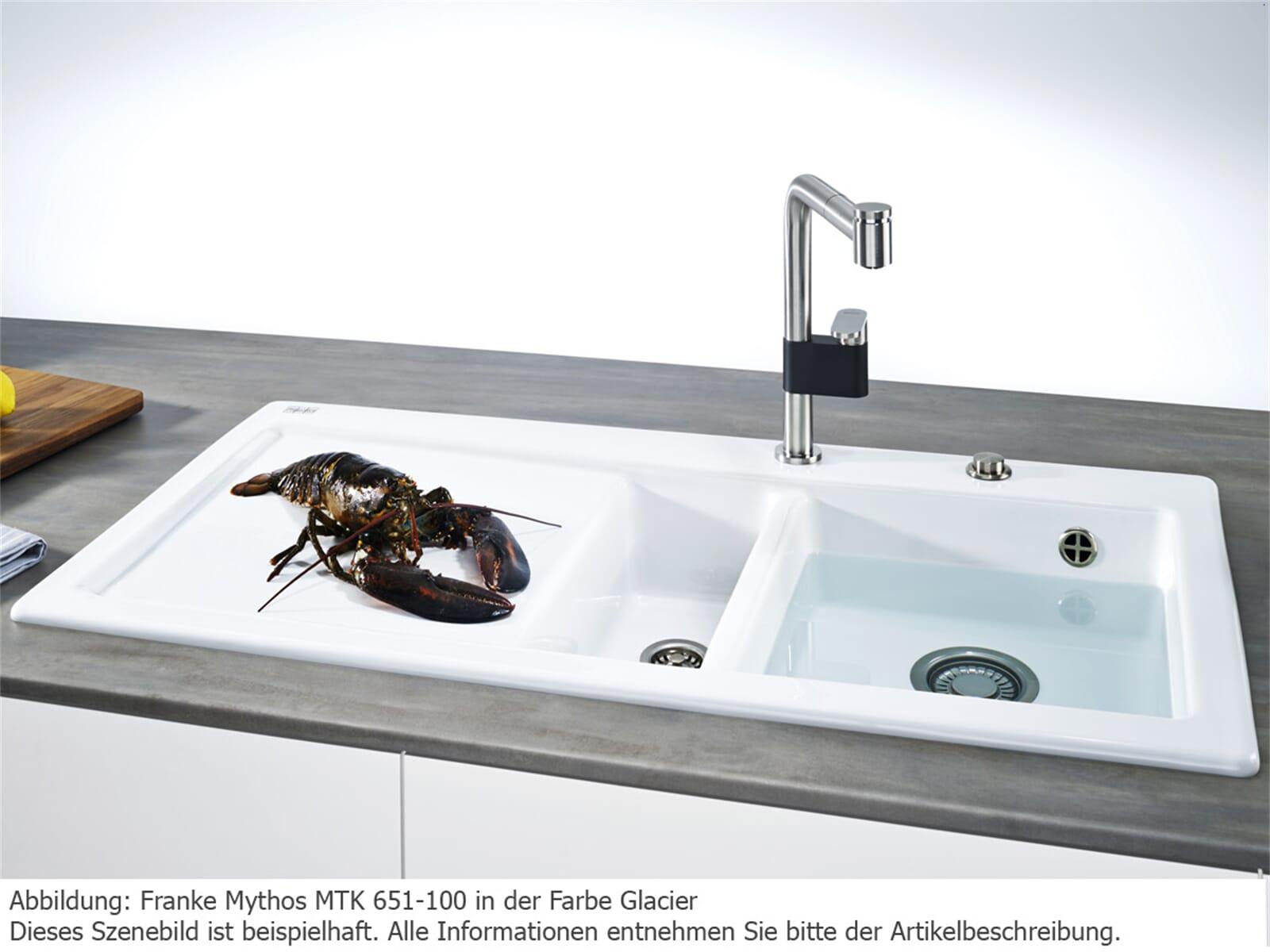 Franke Mythos MTK 651-100 Onyx Keramikspüle