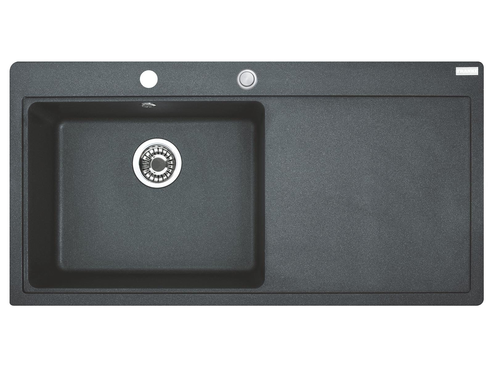 Franke Mythos MTG 611 Graphit - 10808 Granitspüle Exzenterbetätigung
