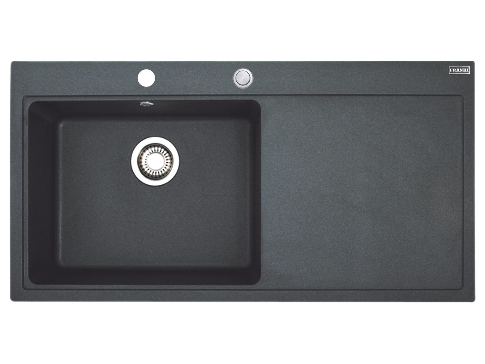 Franke Mythos MTG 611 Onyx - 10826 Granitspüle Exzenterbetätigung