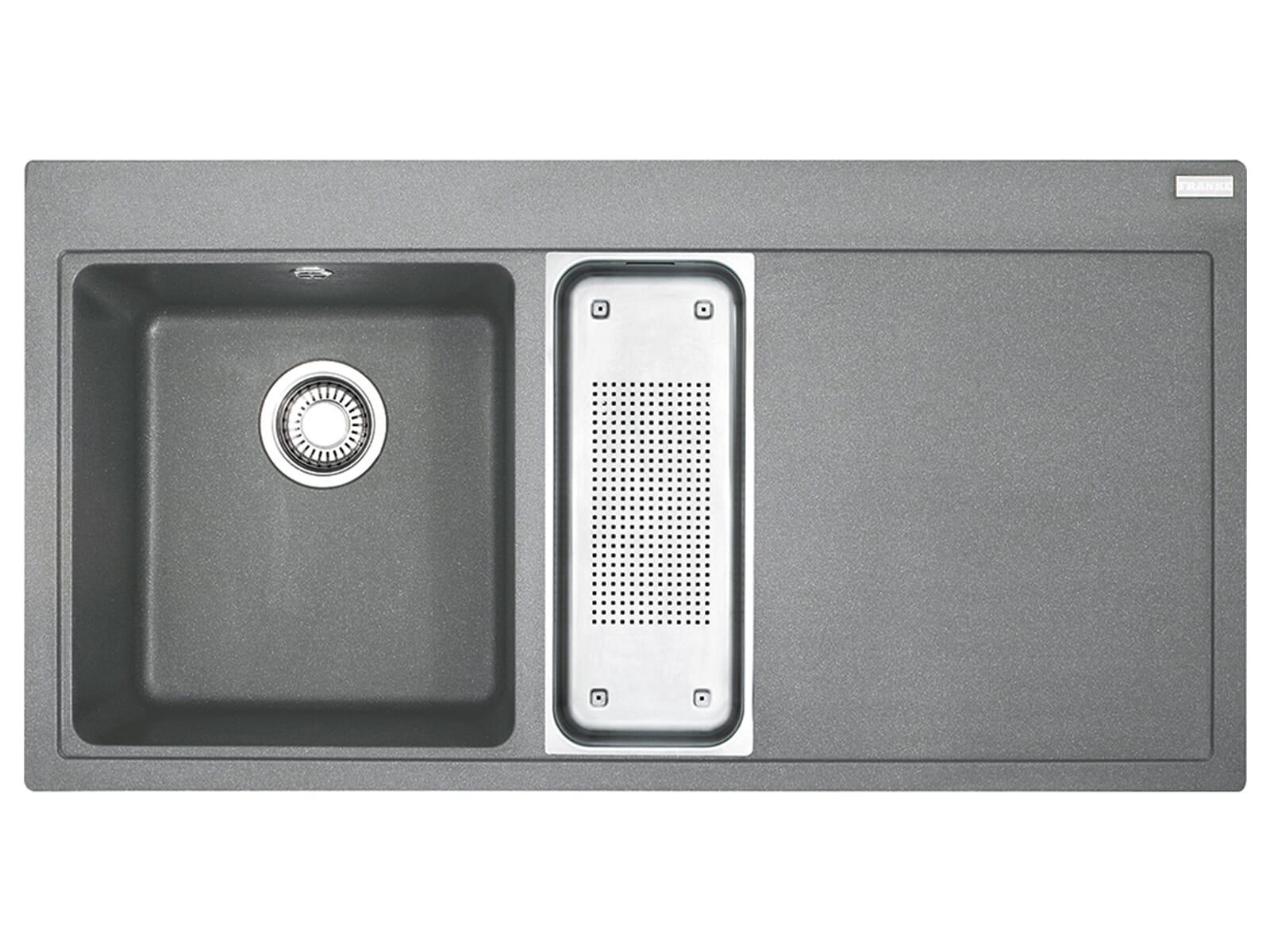 Franke Mythos MTG 651 Steingrau - 114.0476.968 Granitspüle Exzenterbetätigung