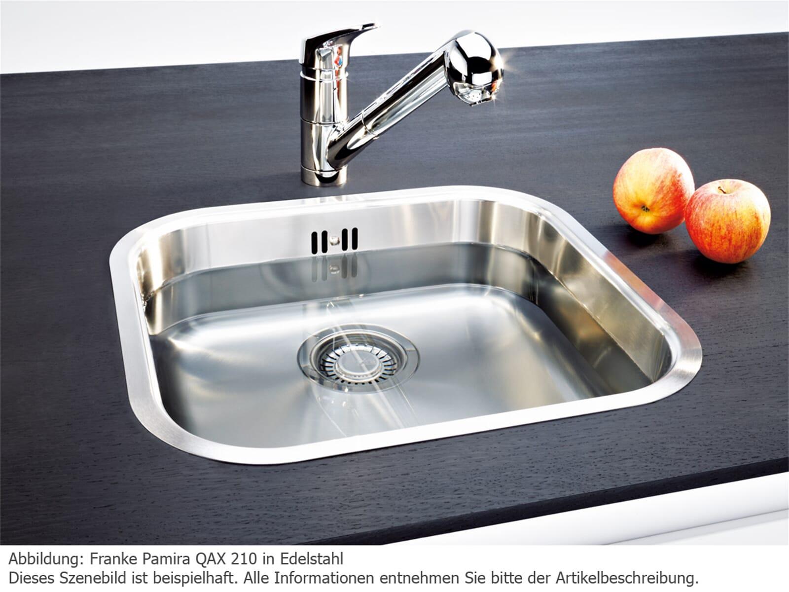 Franke Pamira QAX 210-F Edelstahlspüle glatt
