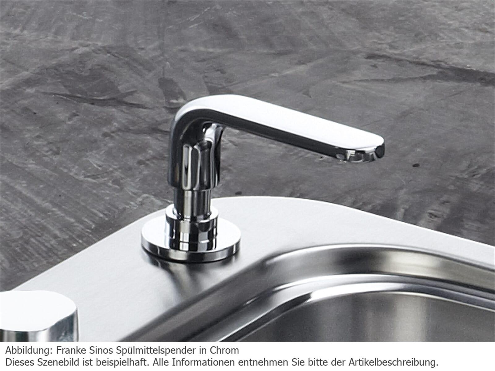 Franke Sinos Edelstahl-Optik Spülmittelspender