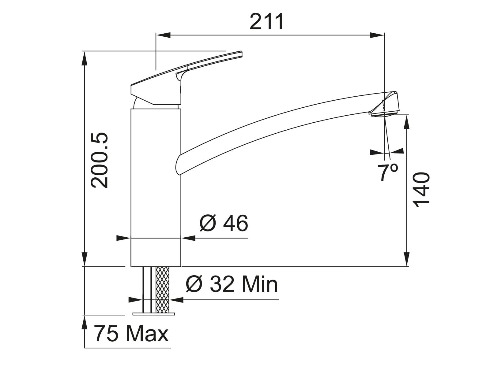 Franke Smart Chrom - 10610 Hochdruckarmatur