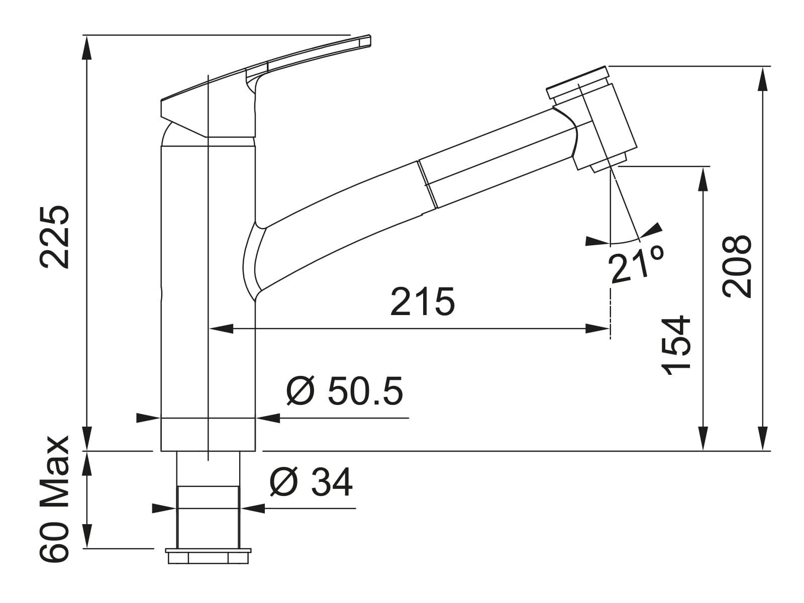 Franke Smart Chrom - 10870 Hochdruckarmatur