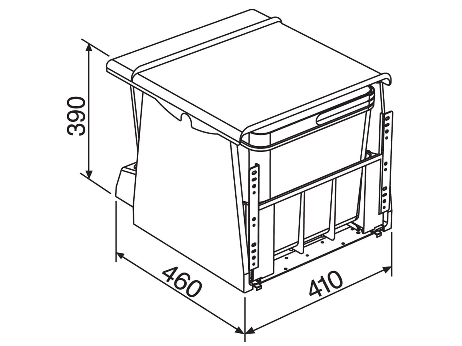 Franke Sorter 700-45 Motion - 121.0173.360 Einbau Abfallsammler